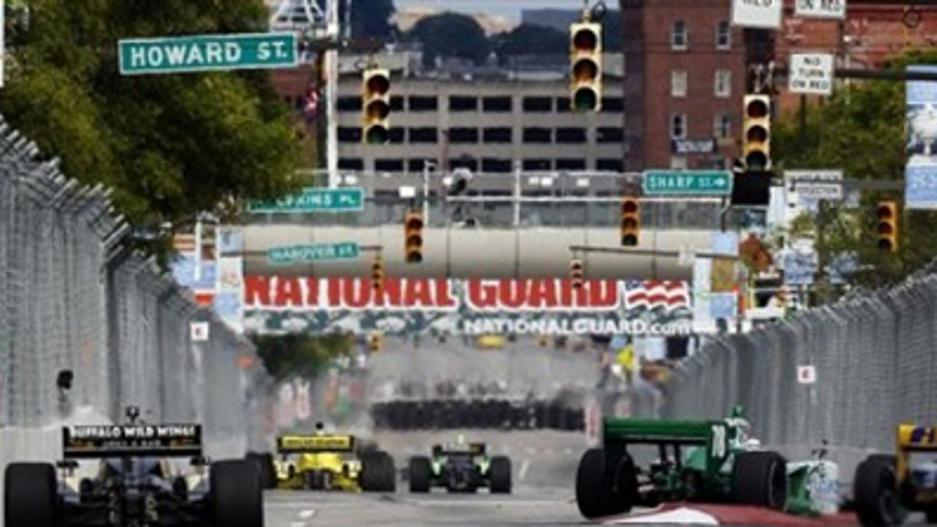 IndyCar drivers practice for the Baltimore Grand Prix