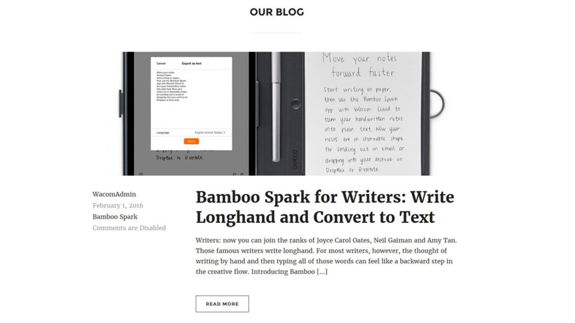 (Screenshot from http://bamboo.wacom.com/)