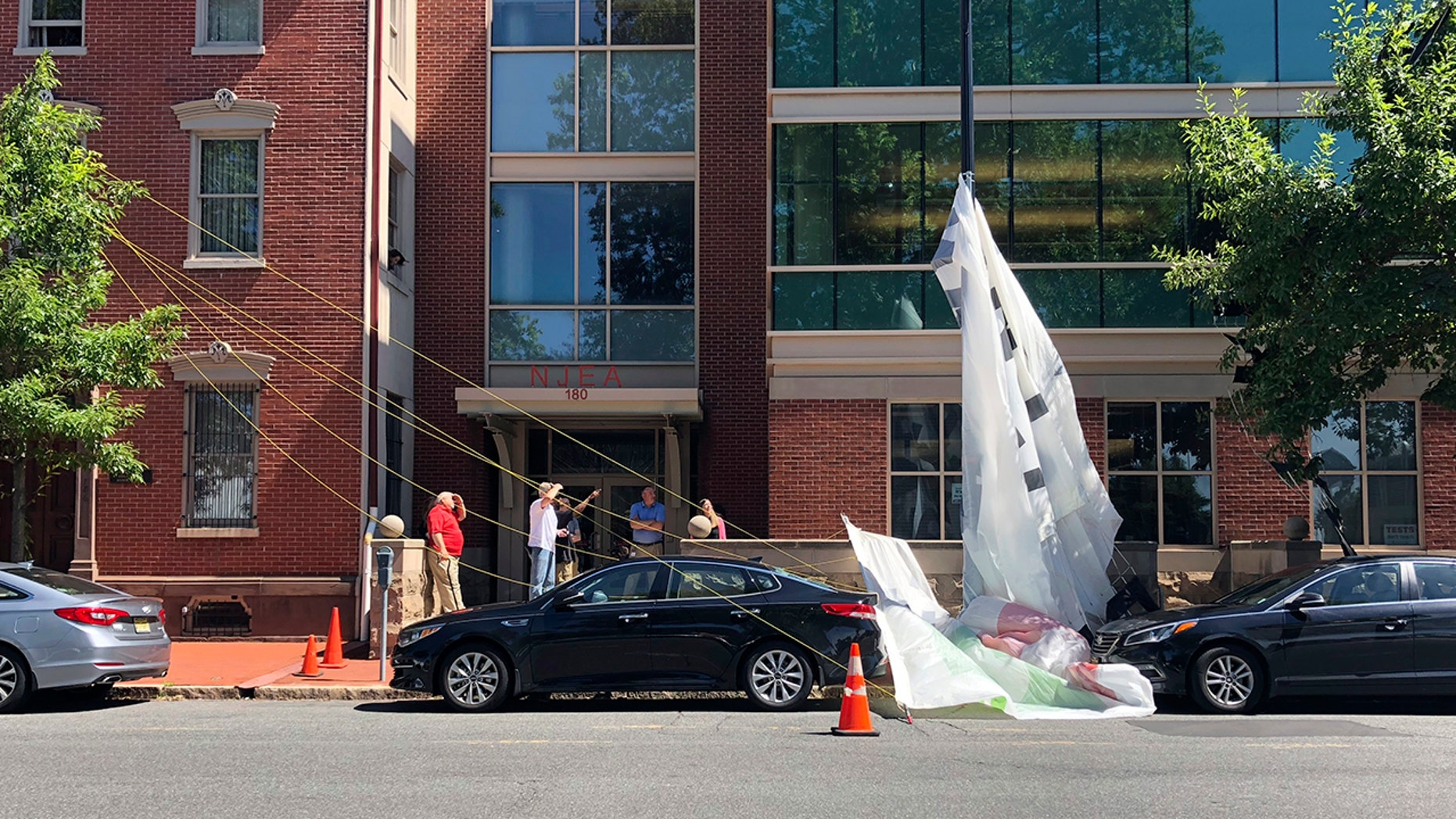 Banner Comes Loose From Plane Over New Jersey Town Smashes Car