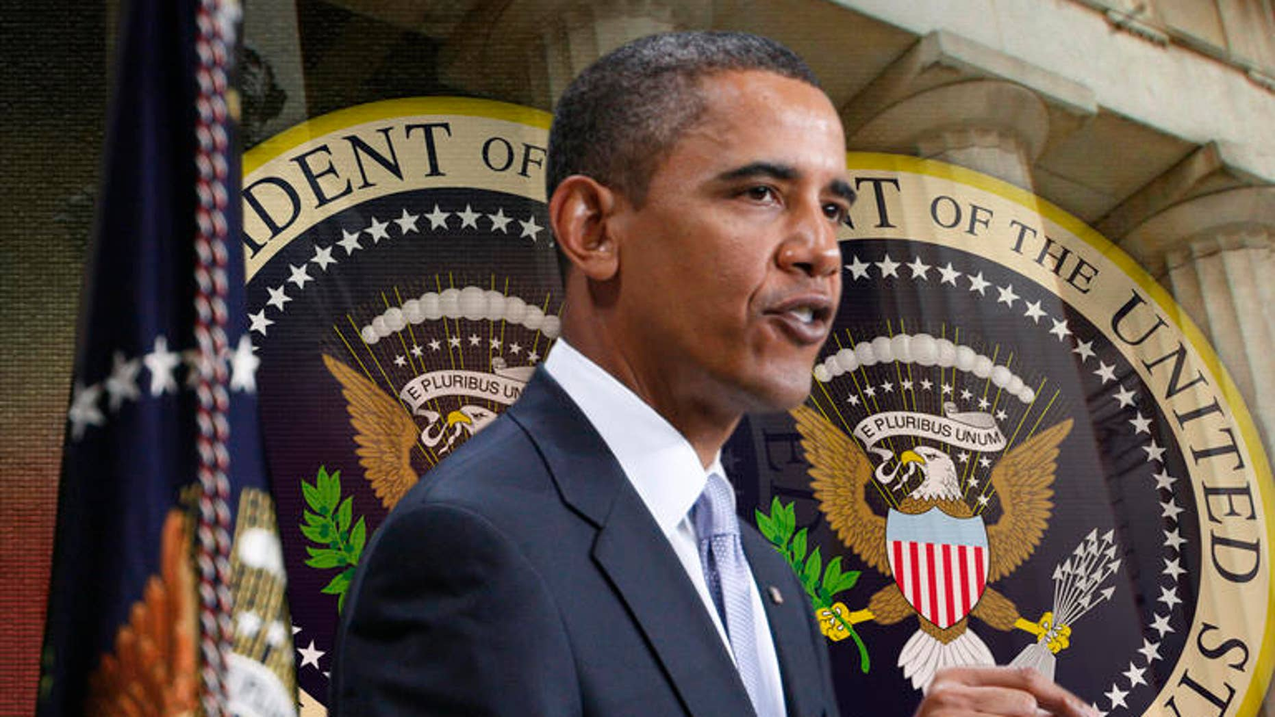President Barack Obama speaks about the financial crisis, on the anniversary of the Lehman Brothers collapse, Monday, Sept. 14, 2009, at Federal Hall on Wall Street in New York. (AP Photo/Charles Dharapak)