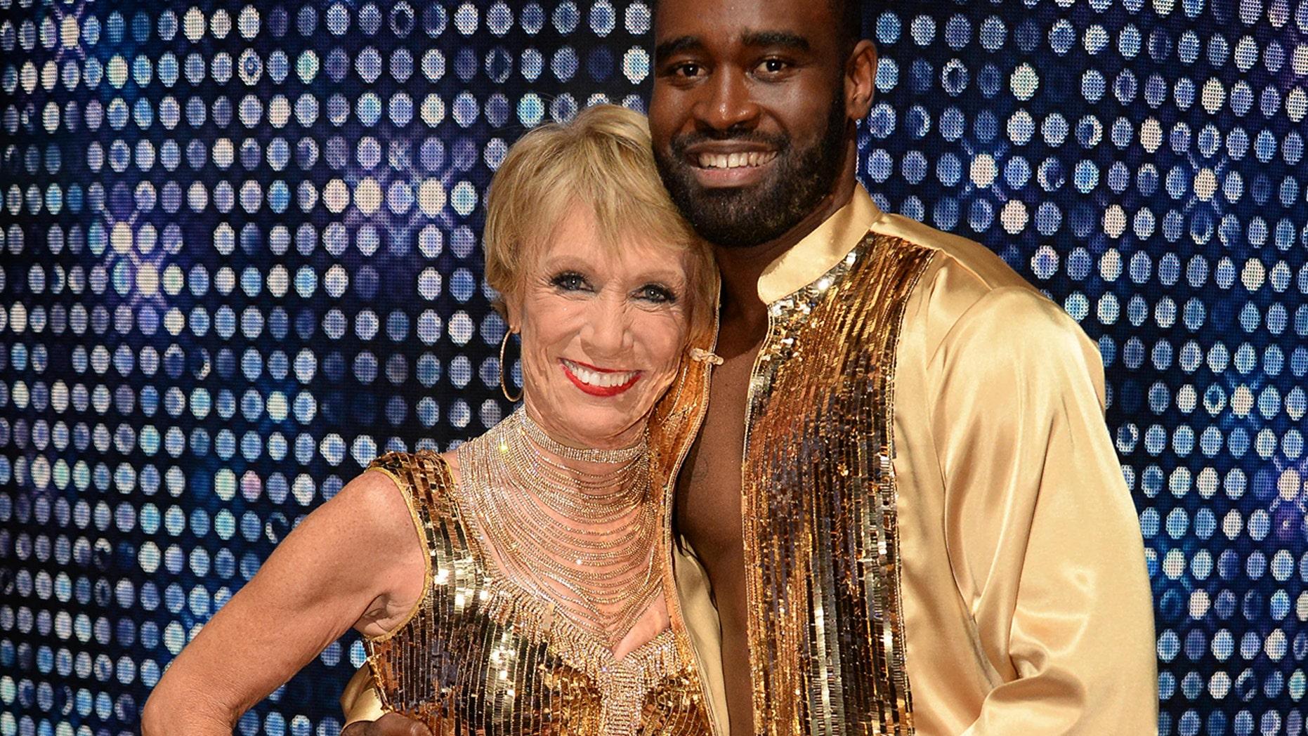 "Barbara Corcoran and her ""DWTS"" partner Keo Motsepe."