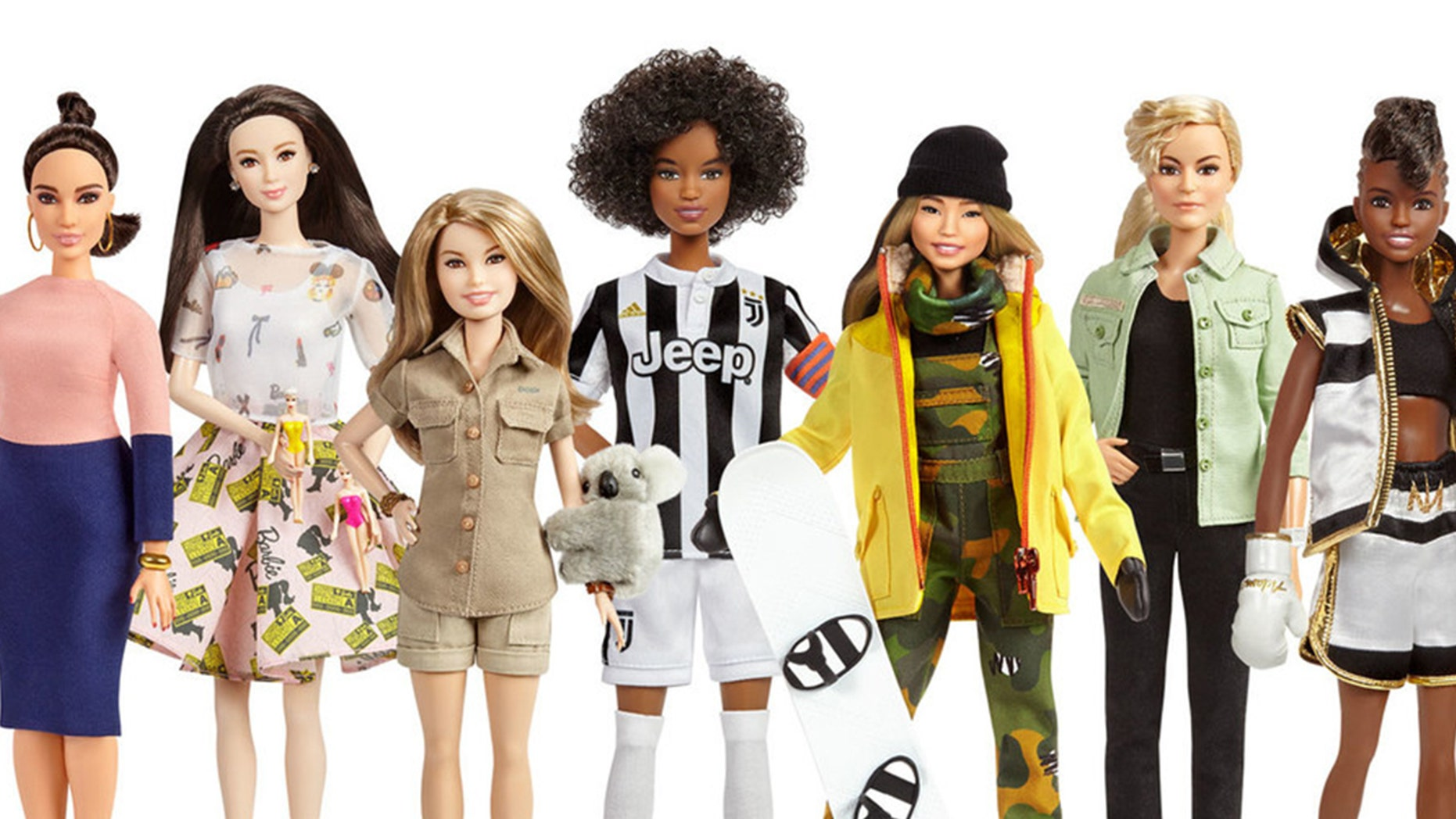 Barbie just released 17 new dolls inspired by real-life groundbreaking women from a variety of fields.