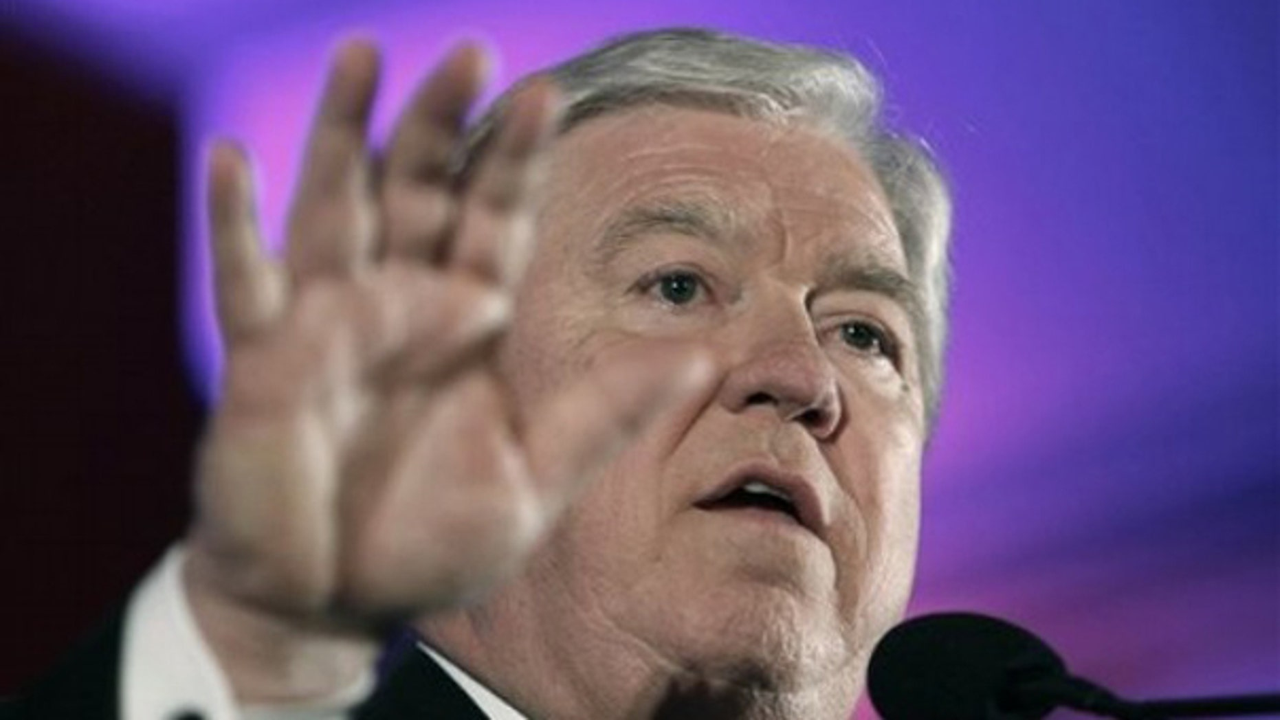 Mississippi Gov. Haley Barbour speaks at the Southern Republican Leadership Conference in New Orleans April 10. (AP Photo)
