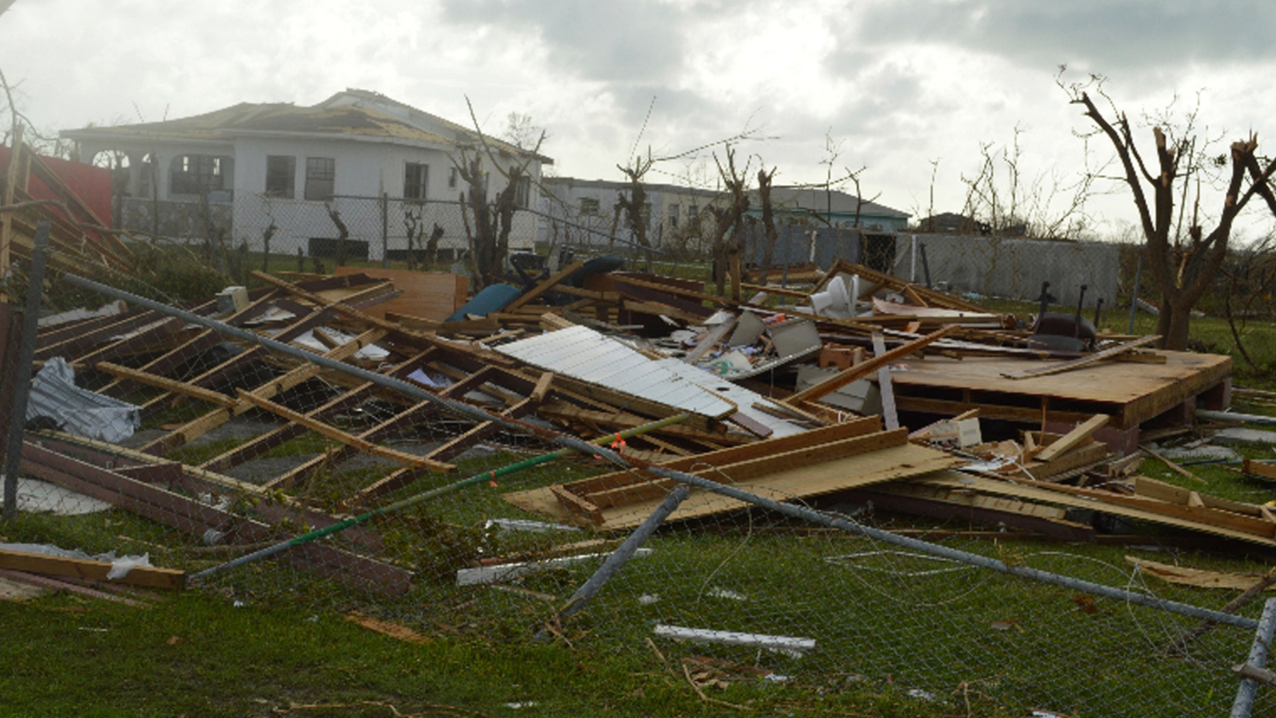 The island of Barbuda saw extensive damage from Hurricane Irma, as this photo shows, Sept. 7, 2017.