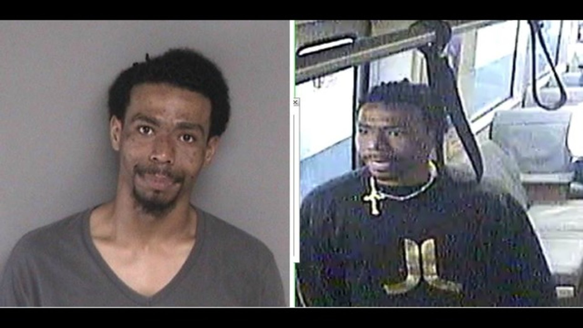 Police say Solomon Espinosa, 27, is wanted in connection with the slashings of two men aboard a BART train Friday night.