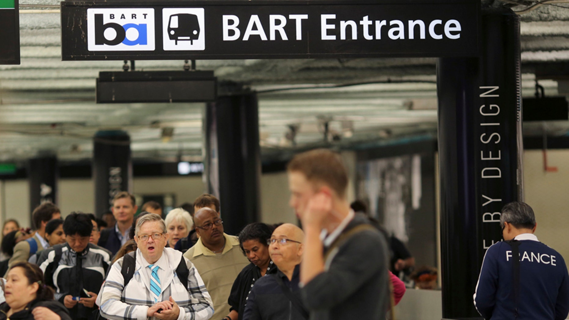 Bay Area Rapid Transit (BART) rail station.