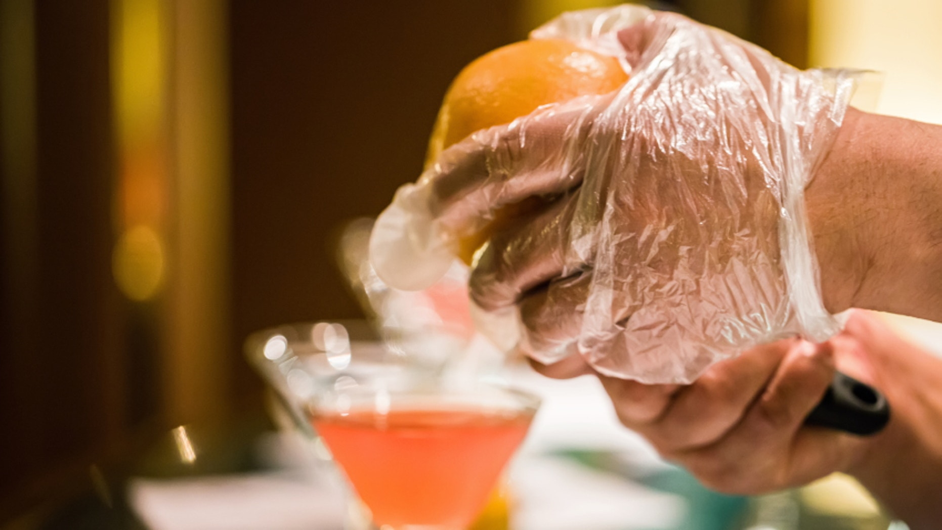 California bartenders have been told they must wear gloves when making drinks from now on, thanks to the introduction of a new food safety law.