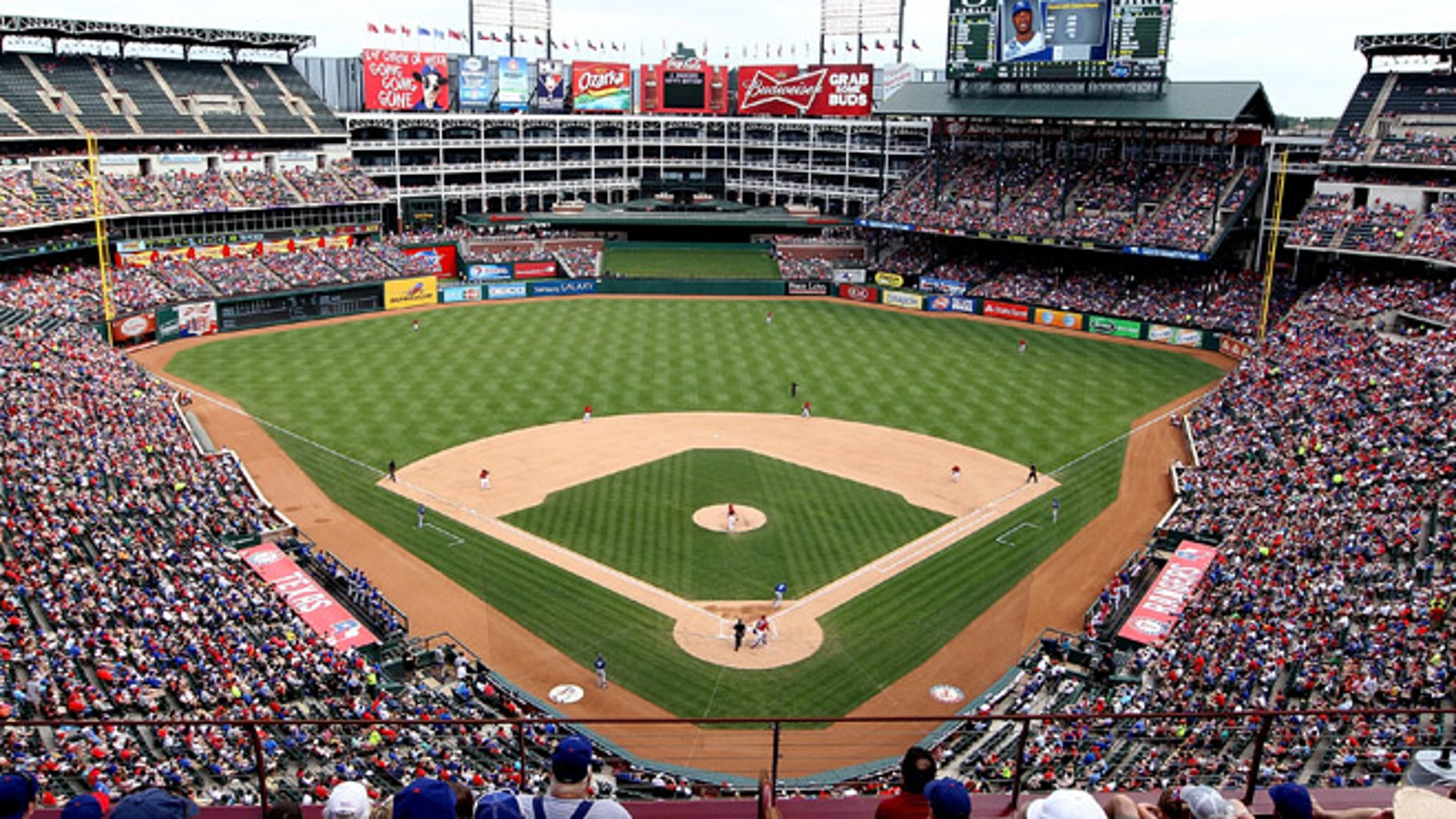ARLINGTON, TX - JUNE 1: A general view of the baseball field during the game between the Kansas City Royals and the Texas Rangers at Rangers Ballpark in Arlington on June 1, 2013 in Arlington, Texas. (Photo by Rick Yeatts/Getty Images)
