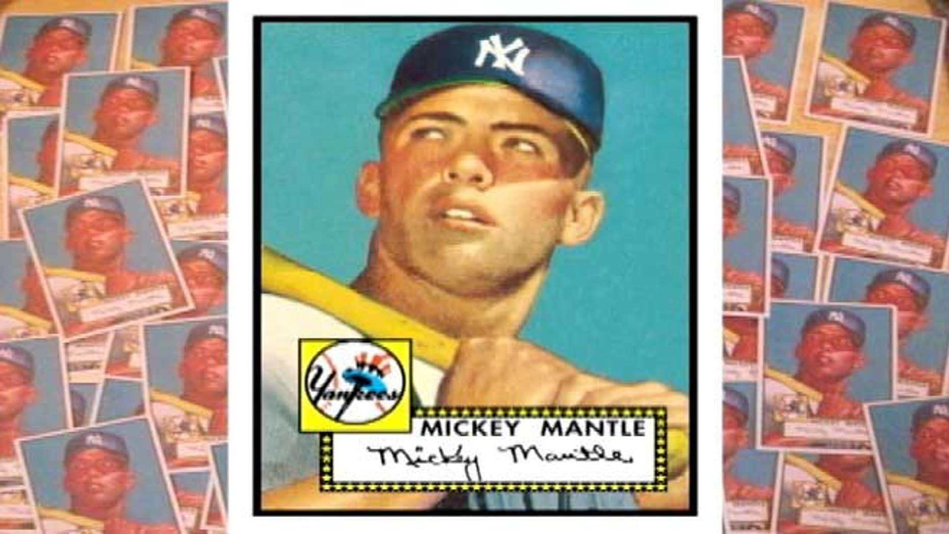 1952 Mickey Mantle baseball card valued at $4,000