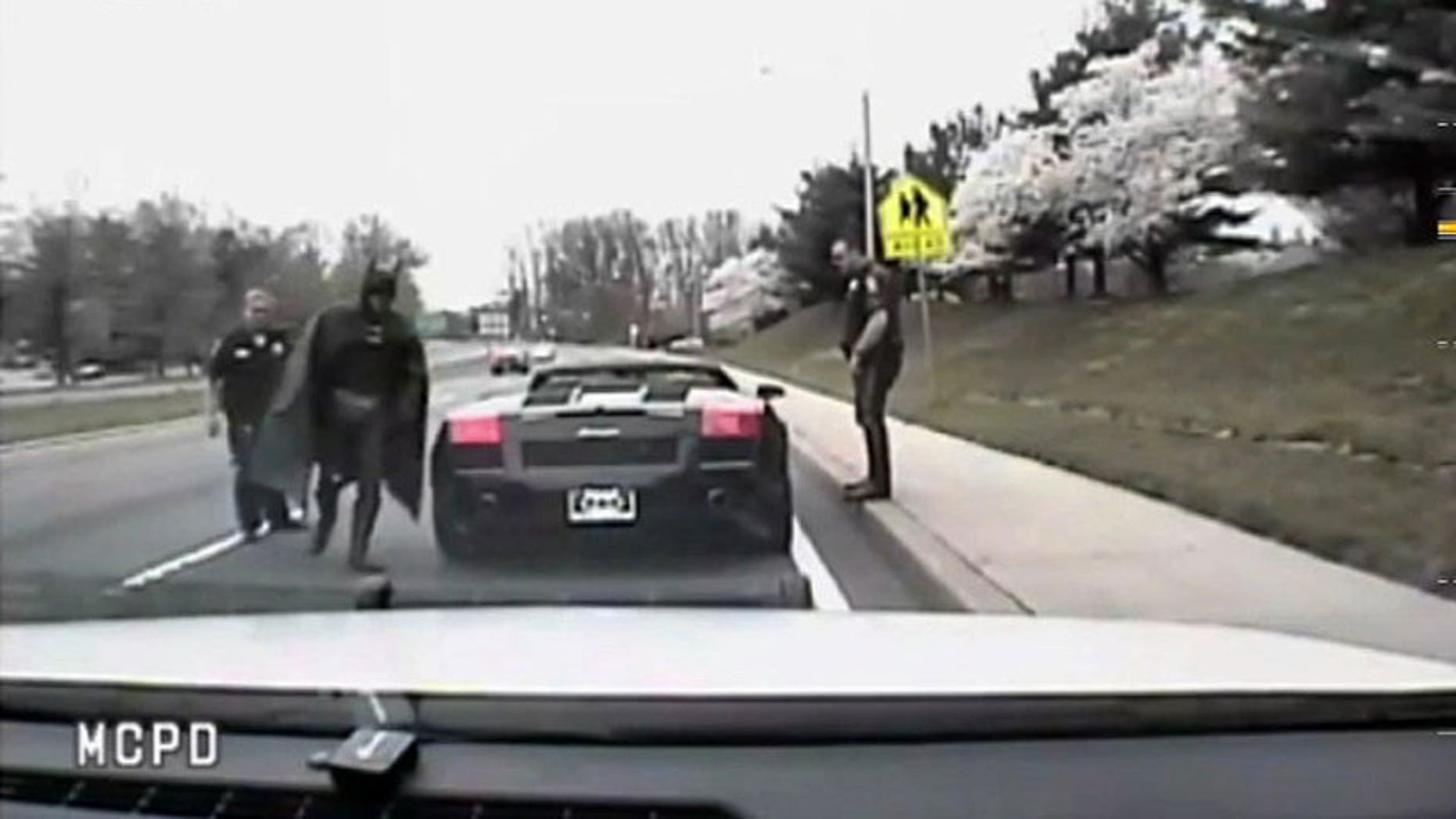 Still from dashcam video of Robinson's 2012 run-in with the police.