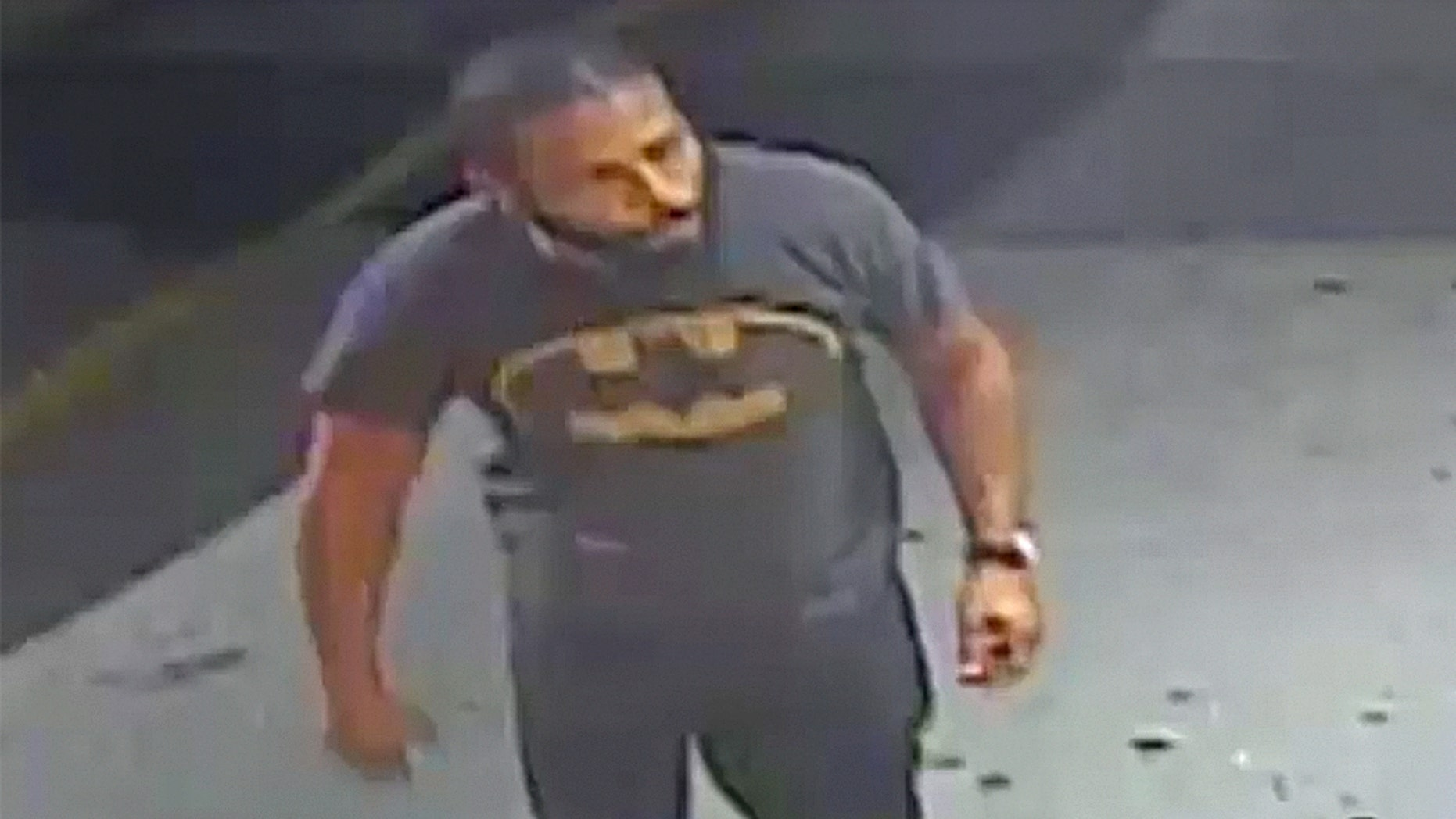 Police are still searching for the suspect who caused a bizarre commotion.