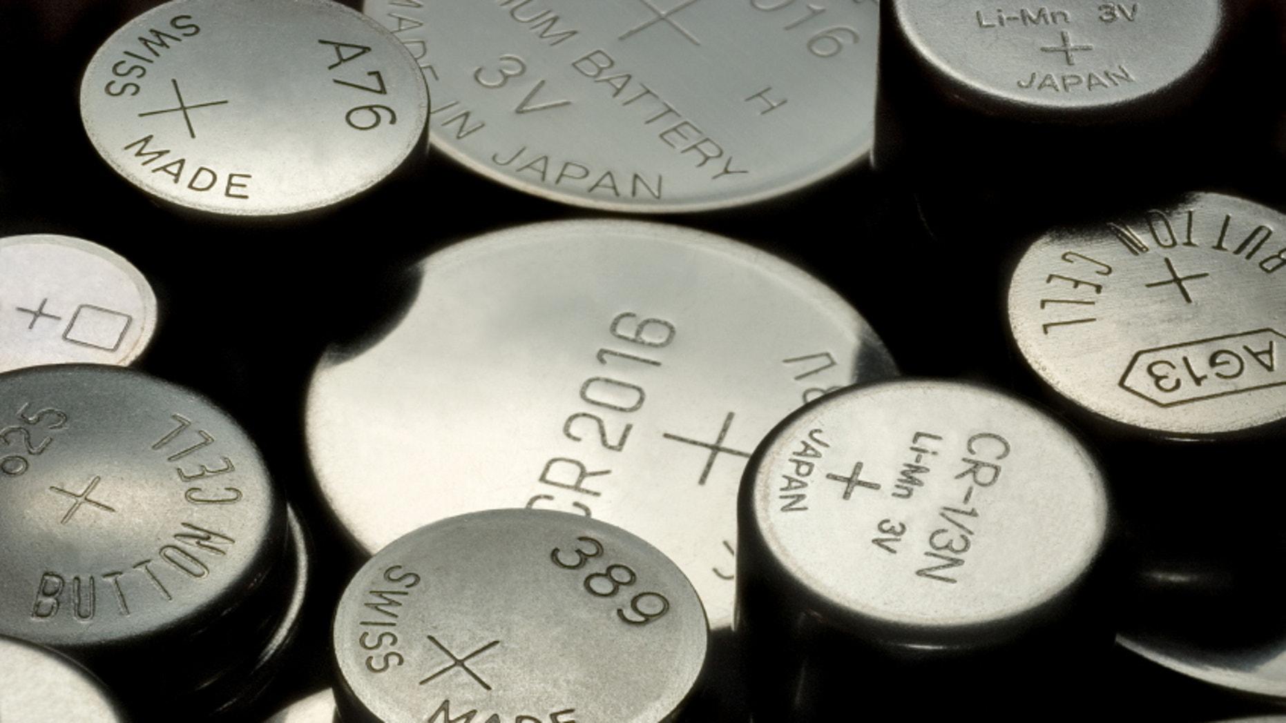 macro shot of various button cells
