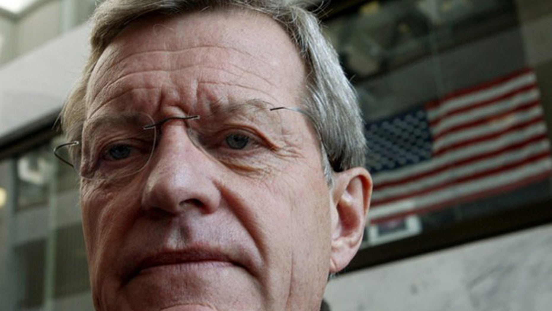 """Senate Finance Committee Chairman Max Baucus (D-MT) leaves the Senate's """"Gang of Six"""" meeting on healthcare reform on Capitol Hill in Washington, in this September 14, 2009 file photo. (Reuters)"""