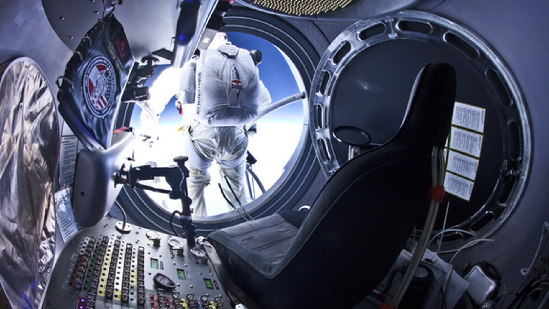 Felix Baumgartner completes final test jump from 97,145.7 feet/29,610 meters on July 25, 2012, for the Red Bull Stratos mission, which aims to set the world record for highest skydiver by leaping from 120,000 feet and breaking the sound barrier