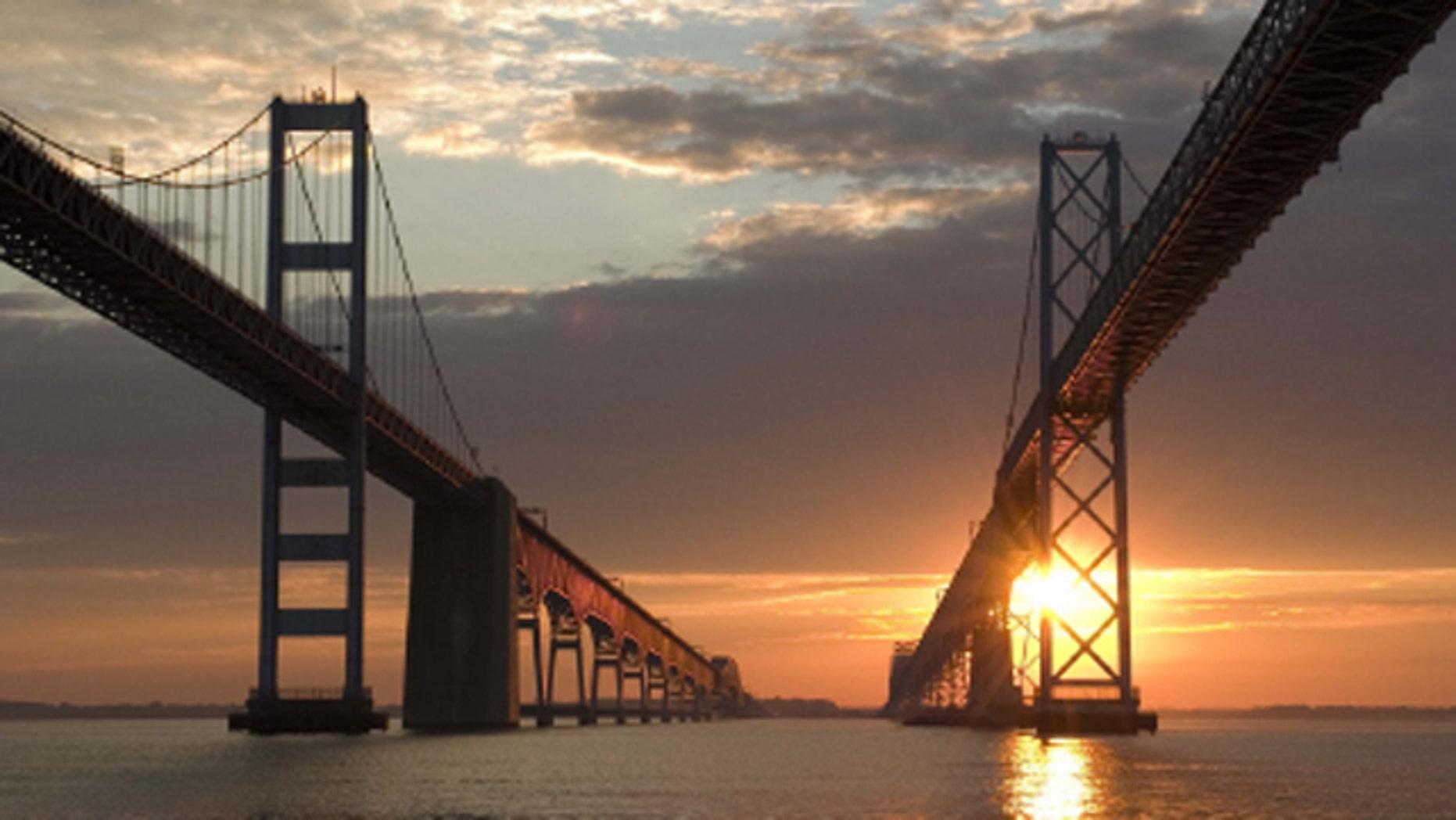 Shown here is the Chesapeake Bay Bridge.