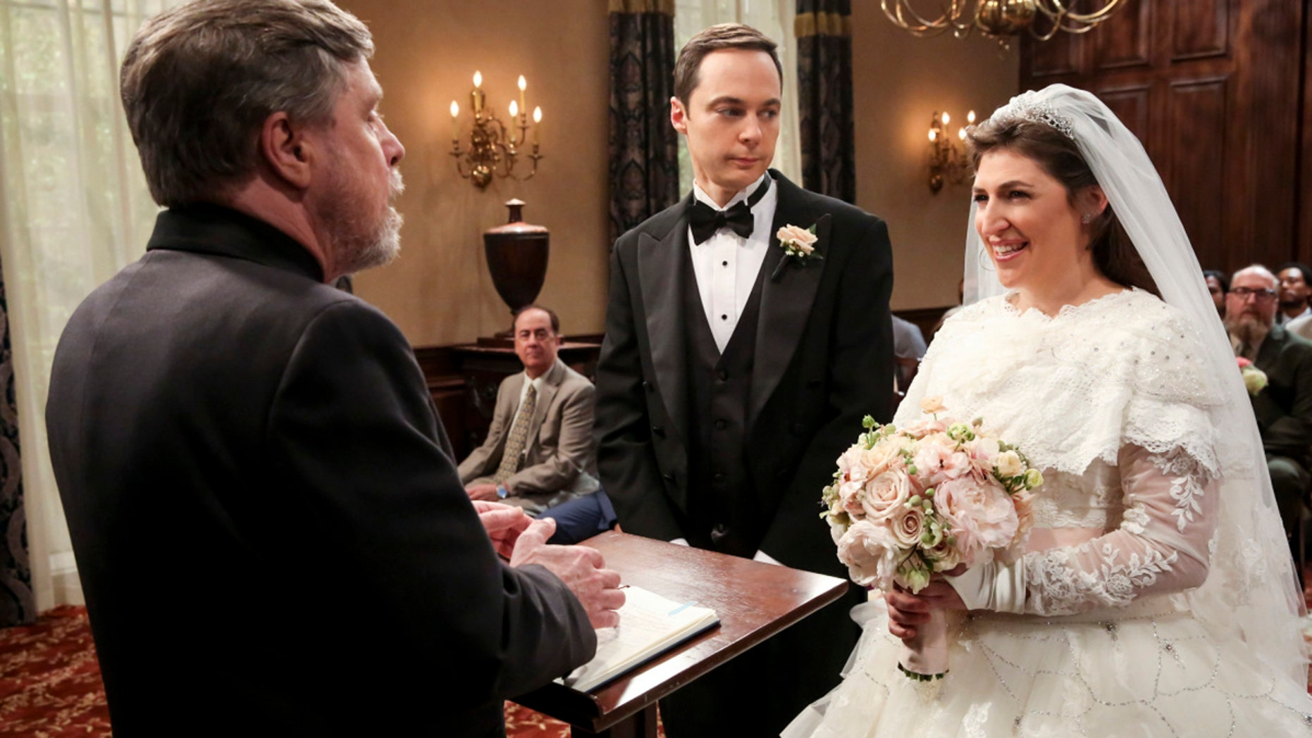 Mayim Bialik admits that she didn't feel like a pretty bride during her TV wedding to co-star Jim Parsons on the season 11 finale of the show.