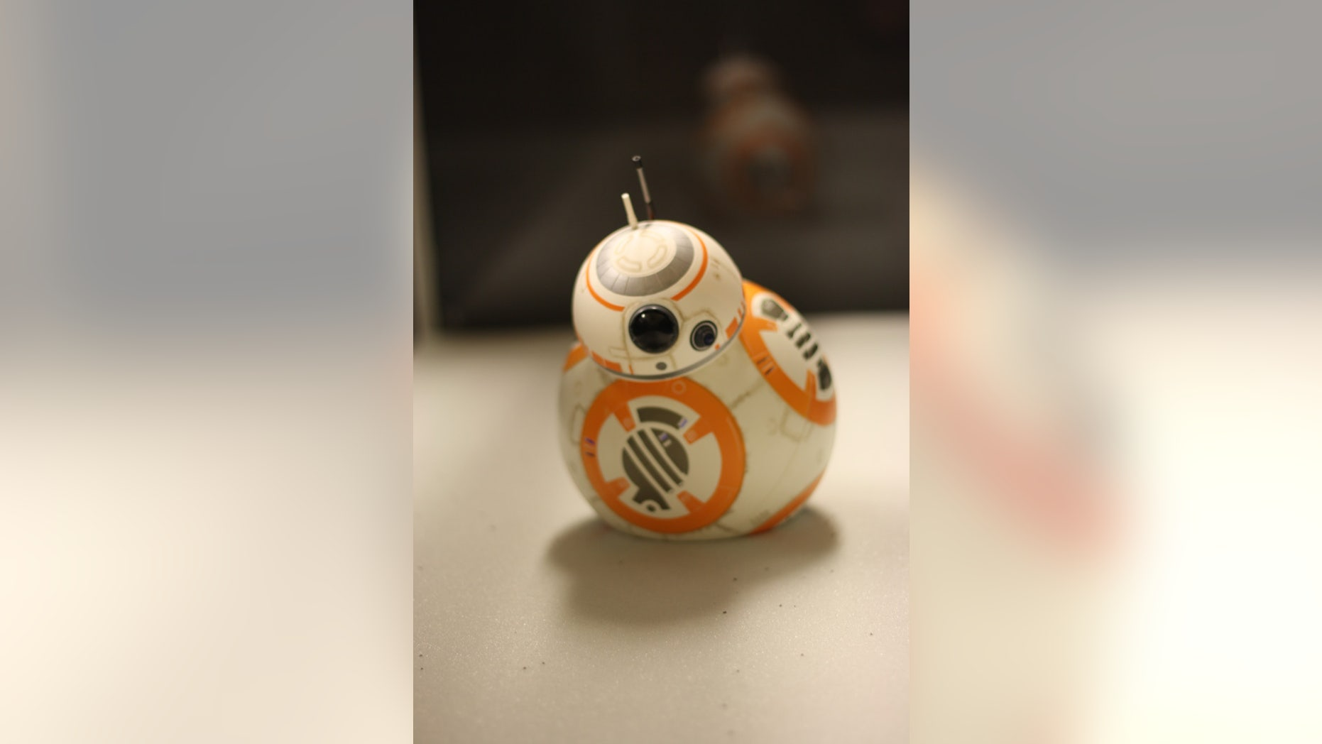 """The """"Star Wars"""" droid BB-8 (or at least its remote-control alter ego) is trapped in a sand-like substance during a lab experiment at Georgia Tech."""