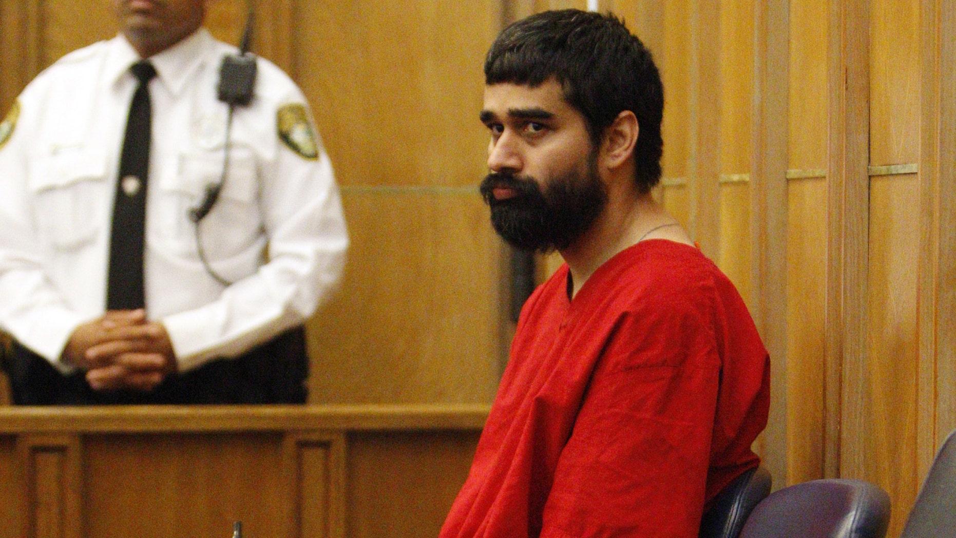 Derek Medina in court Tuesday, Oct. 15, 2013, during a bail hearing in Miami.