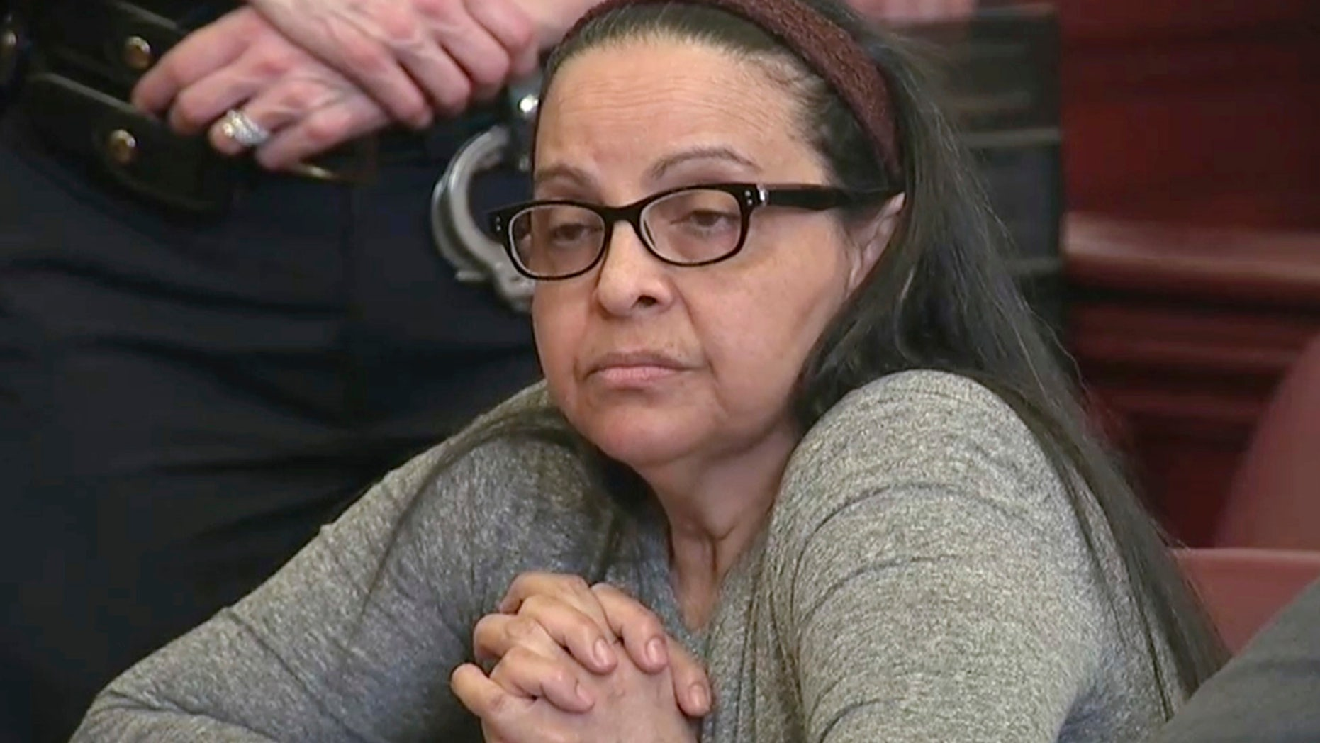 Yoselyn Ortega is seen during the first day of her trial in New York on March 1, 2018.