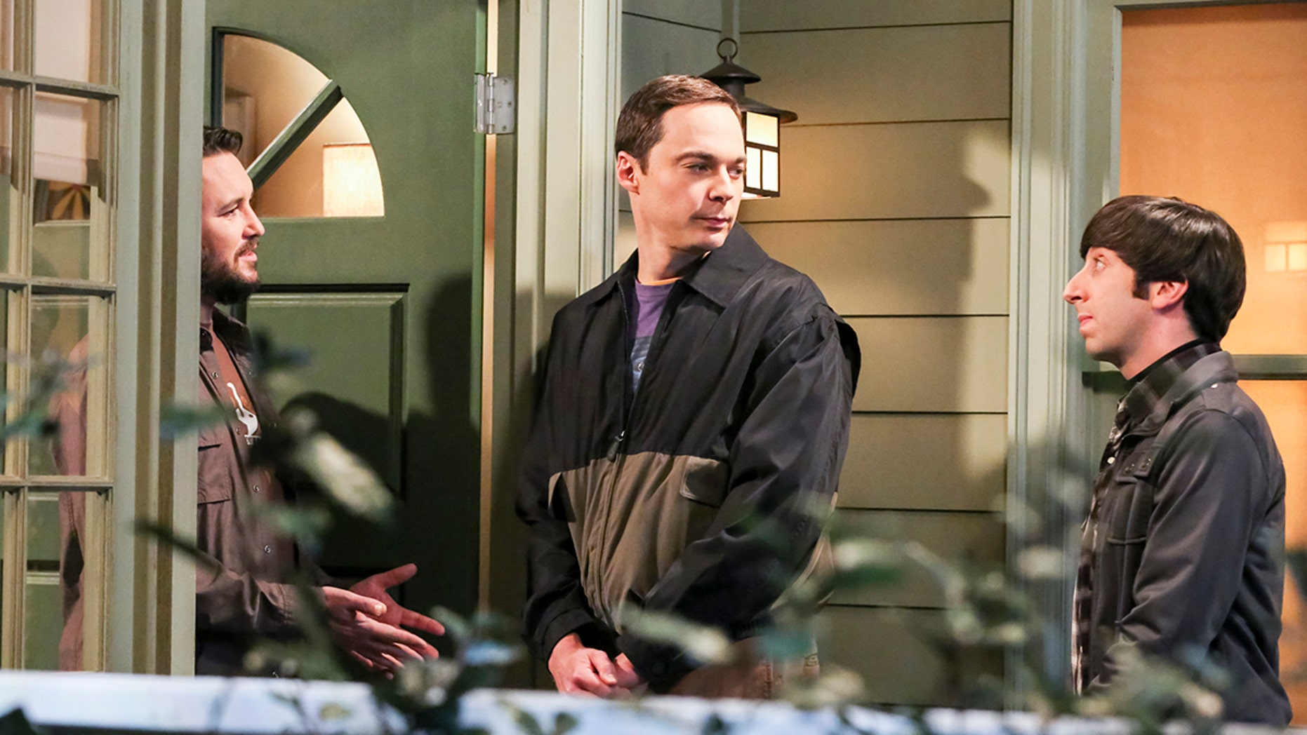 Wil Wheaton (himself), Sheldon Cooper (Jim Parsons) and Howard Wolowitz (Simon Helberg). When Sheldon petitions Wil Wheaton to appear on the new Professor Proton show,