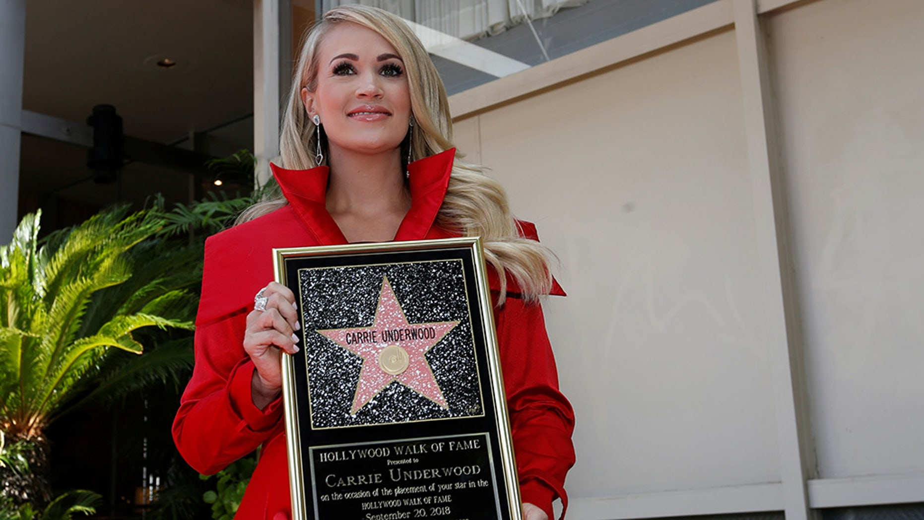 Carrie Underwood attends the unveiling of her star on the Hollywood Walk of Fame in Los Angeles on Sept. 20, 2018.