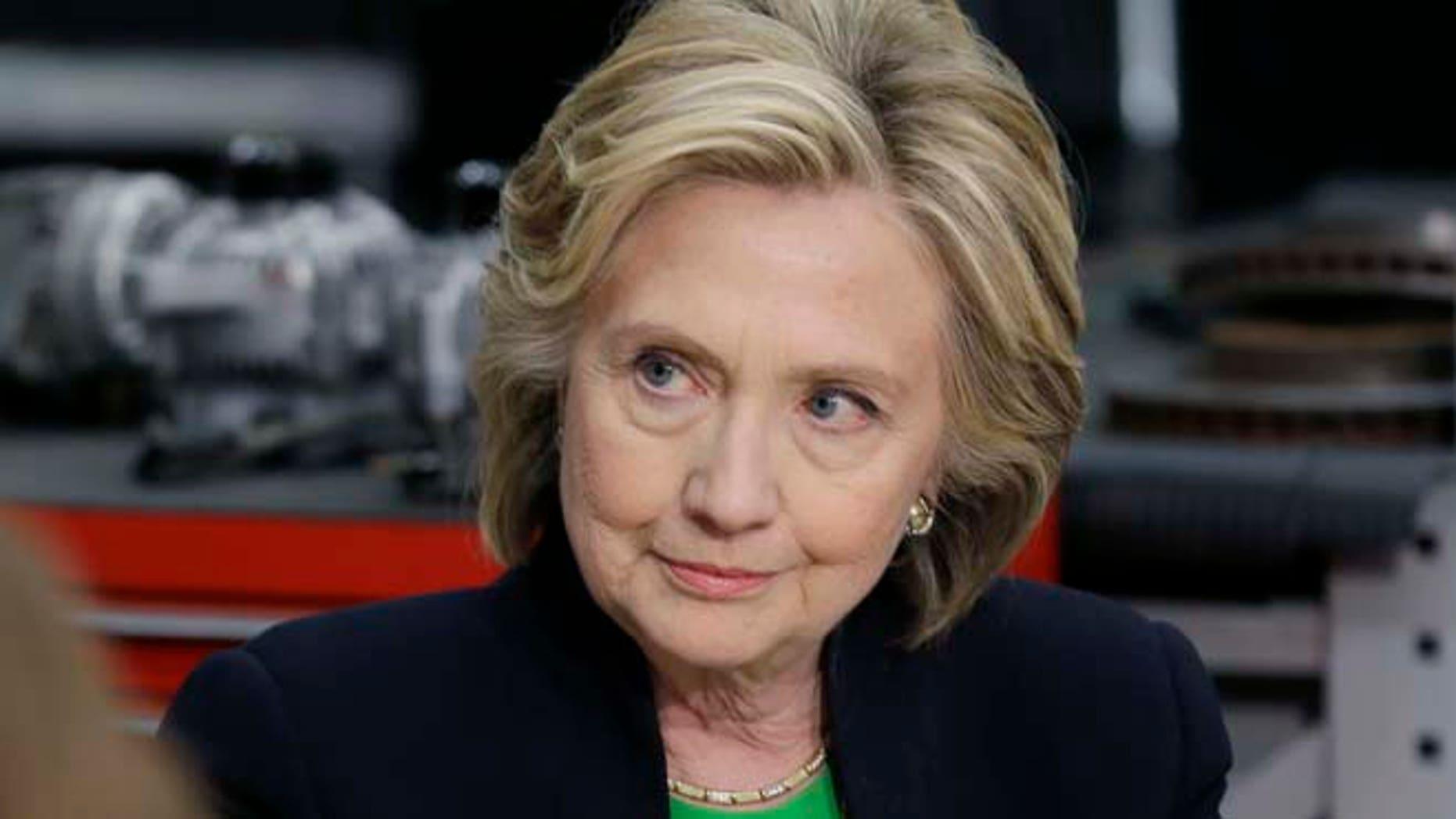 April 14, 2015: Democratic presidential candidate Hillary Rodham Clinton.