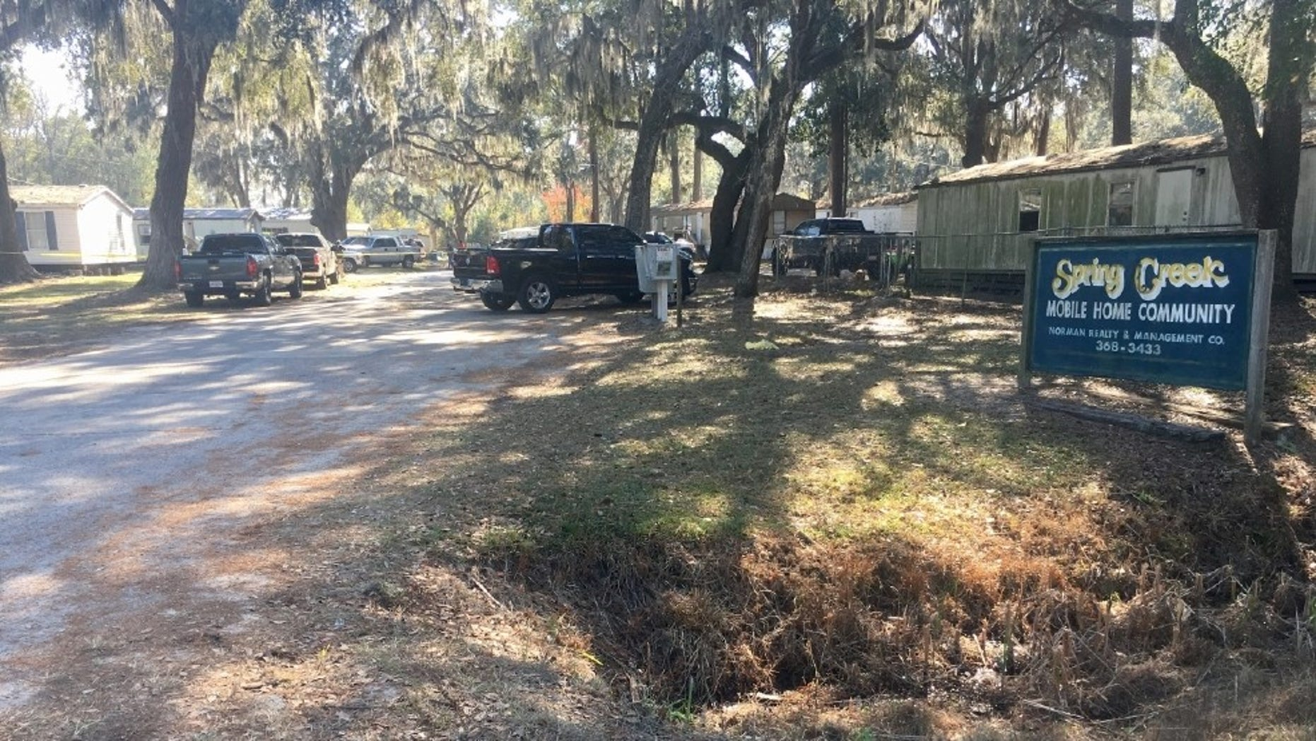 The scene of the shooting in Long County.