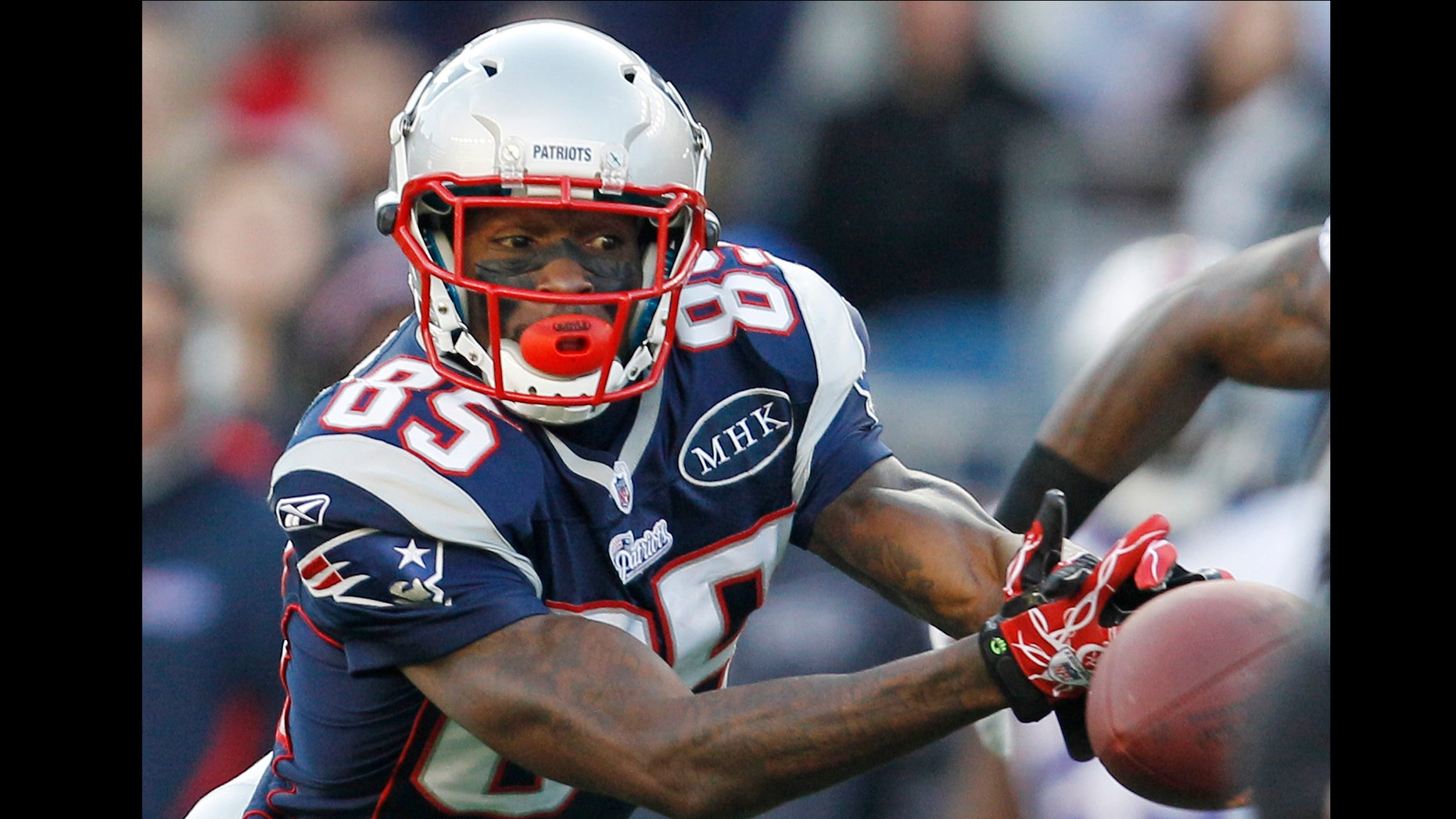 Chad Johnson spent one unproductive season with the New England Patriots, even though the Patriots went to the Super Bowl. (AP Photo/Elise Amendola, File)