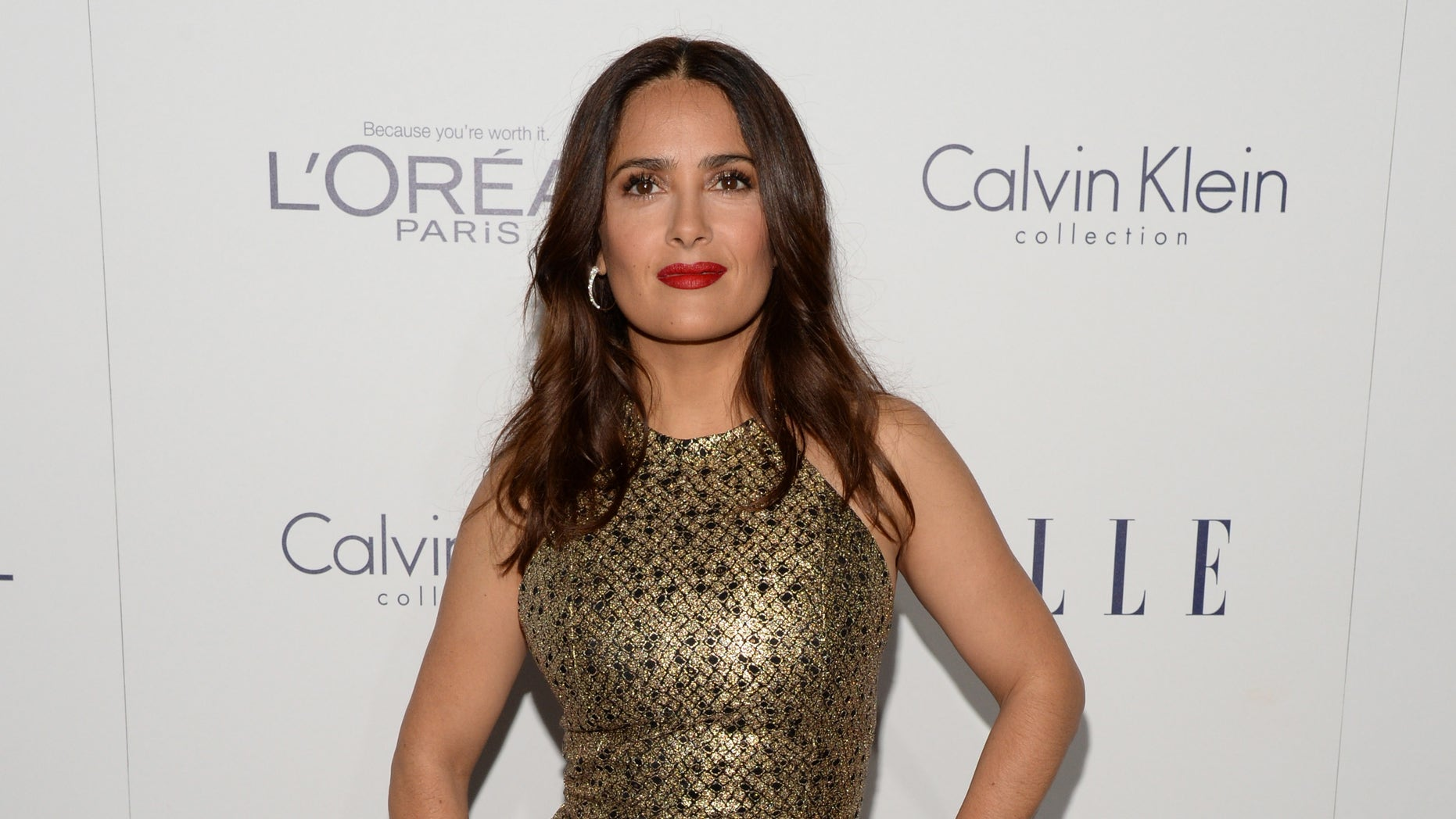 LOS ANGELES, CA - OCTOBER 19:  Actress Salma Hayek attends the 22nd Annual ELLE Women in Hollywood Awards at Four Seasons Hotel Los Angeles at Beverly Hills on October 19, 2015 in Los Angeles, California.  (Photo by Michael Kovac/Getty Images for ELLE)