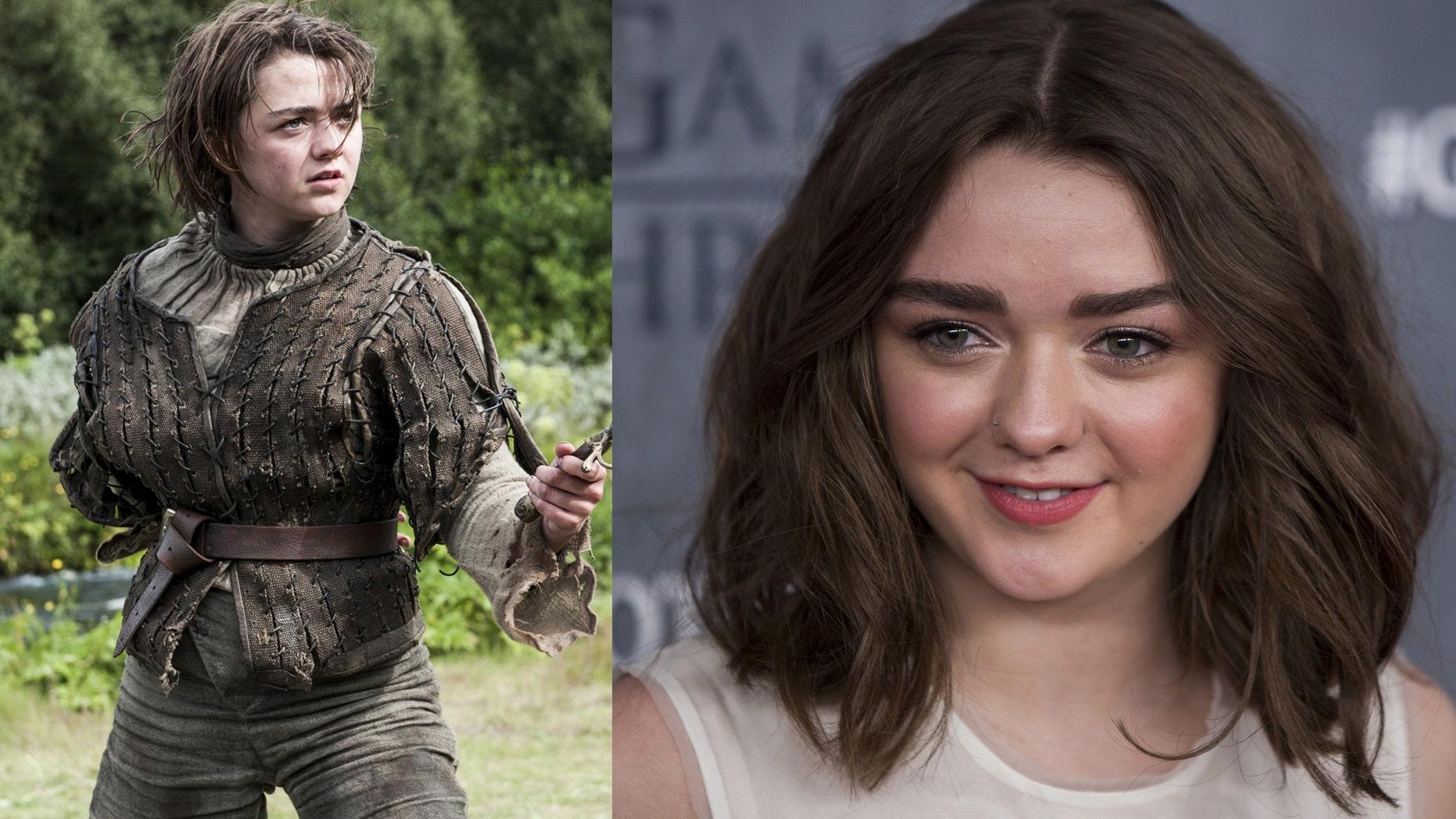 """Game of Thrones"" star Maisie Williams."