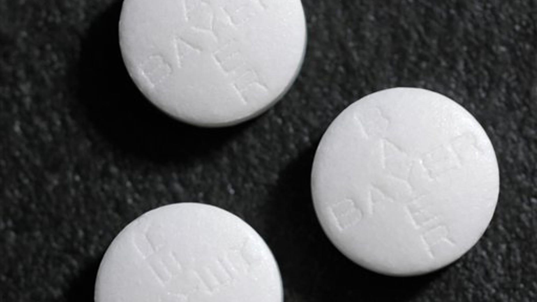 This photo shows aspirin tablets.