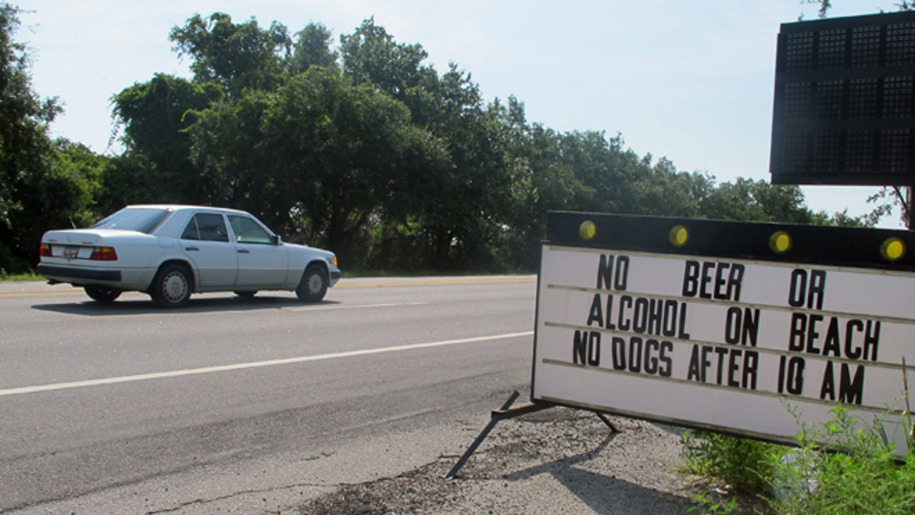 July 27, 2012: Many residents of Folly Beach, S.C. want to make the city's temporary beach alcohol ban permanent.