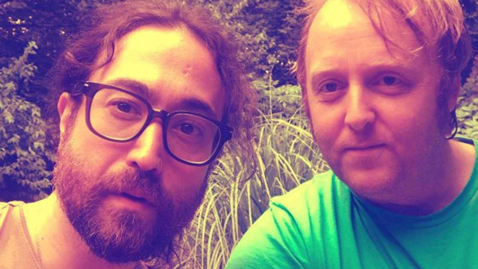 The sons of legendary Beatles posed for a selfie on Monday and users commented on how they resemble their fathers.