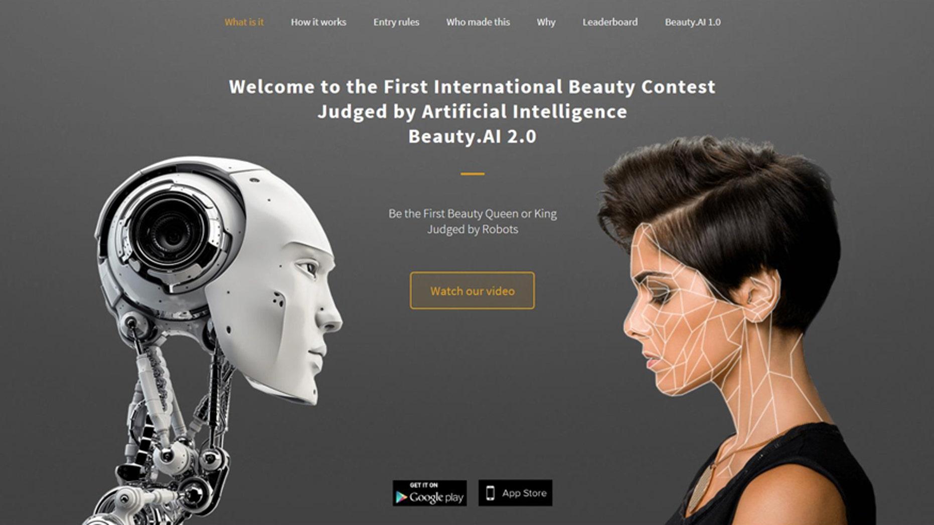 (Screenshot from http://beauty.ai/)