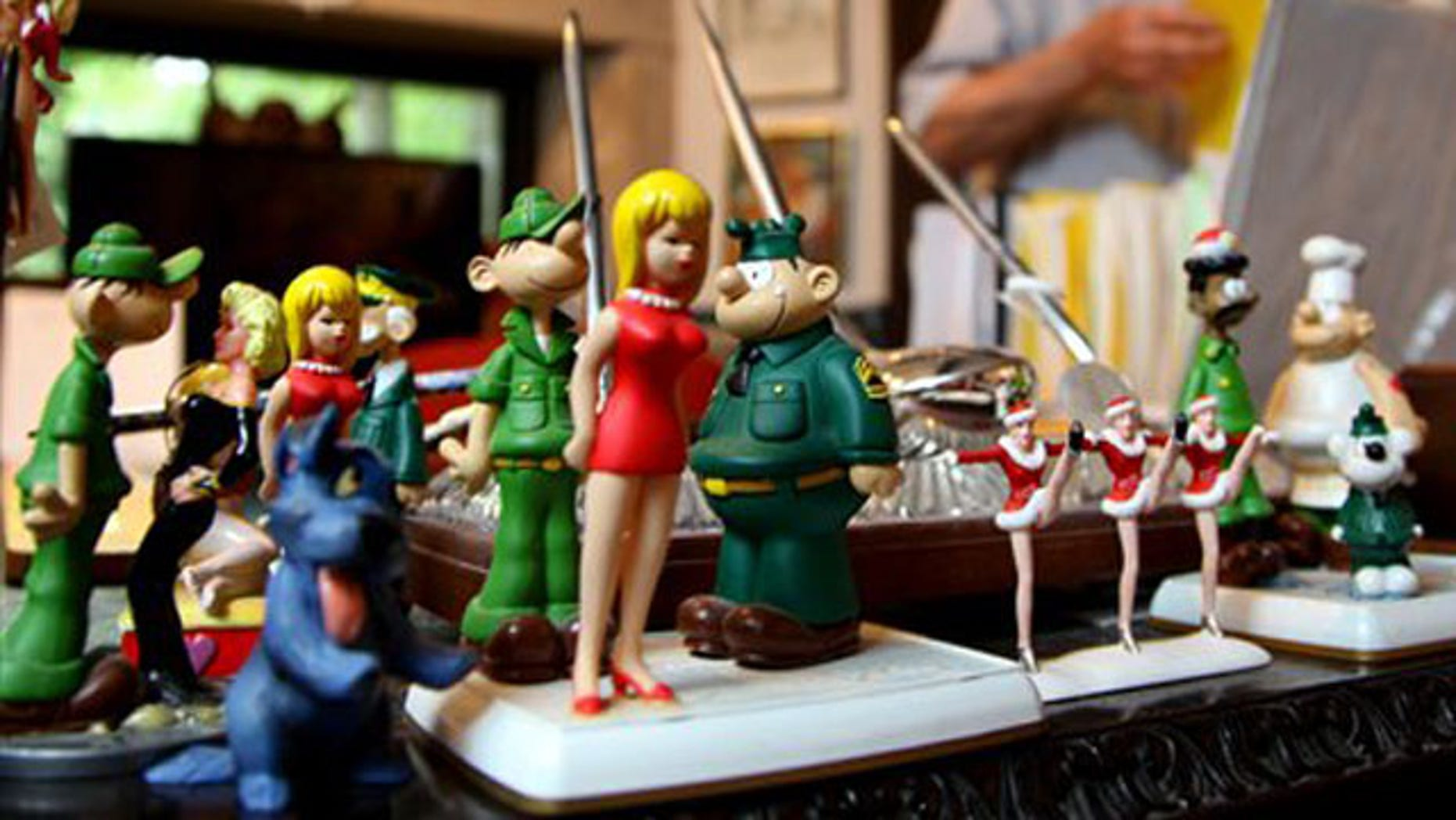 Aug. 16, 2010: Mort Walker's (artist and author of the Beetle Bailey comic strip)  studio in Stamford, Conn. (AP).