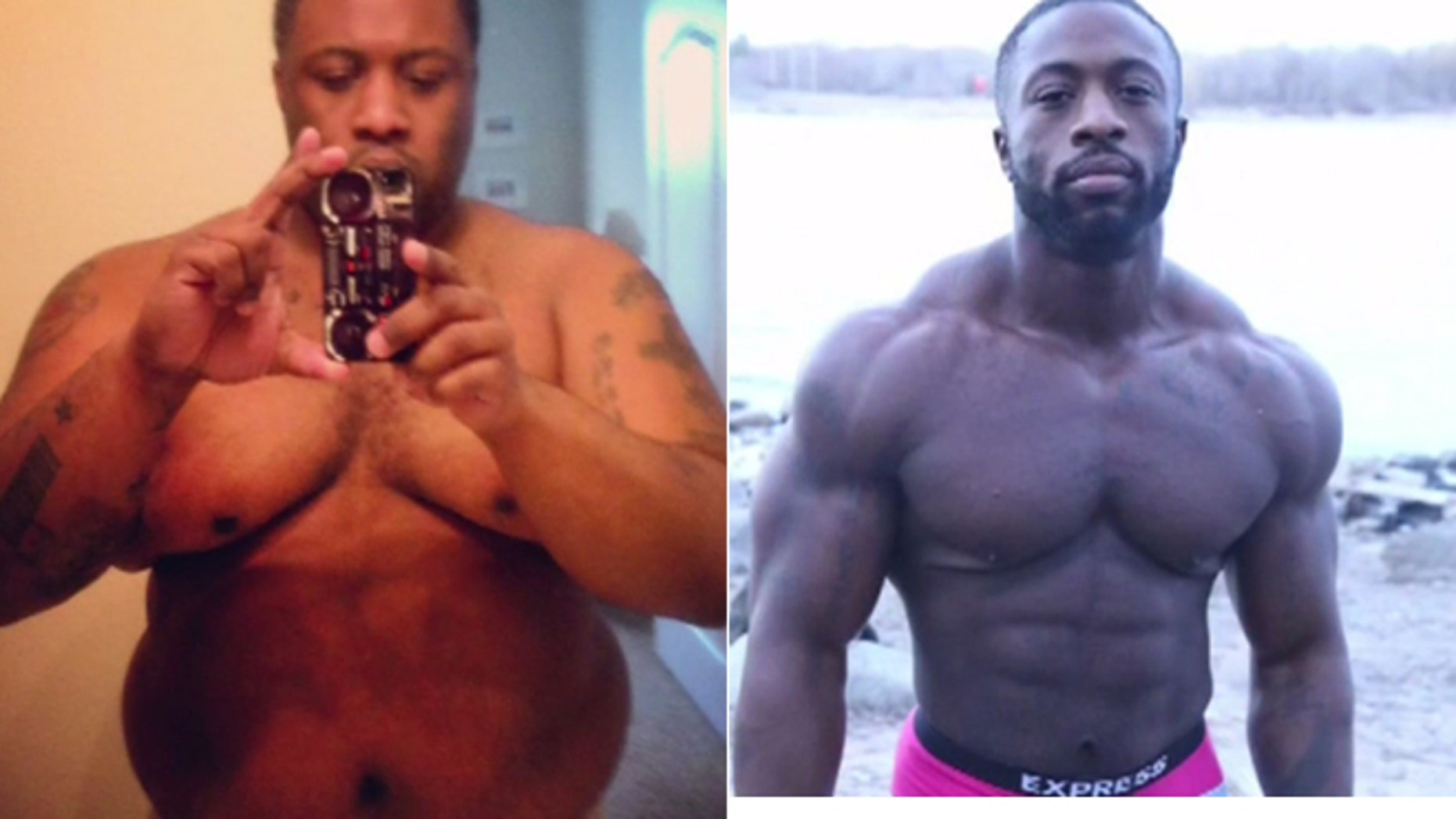 Rashard Keen weight 350 before changing his lifestyle habits and becoming a body builder.