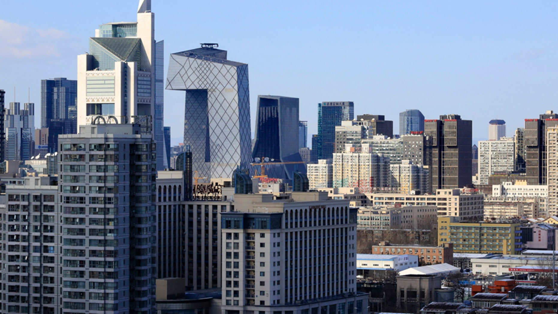 Commercial and residential buildings in Beijing.