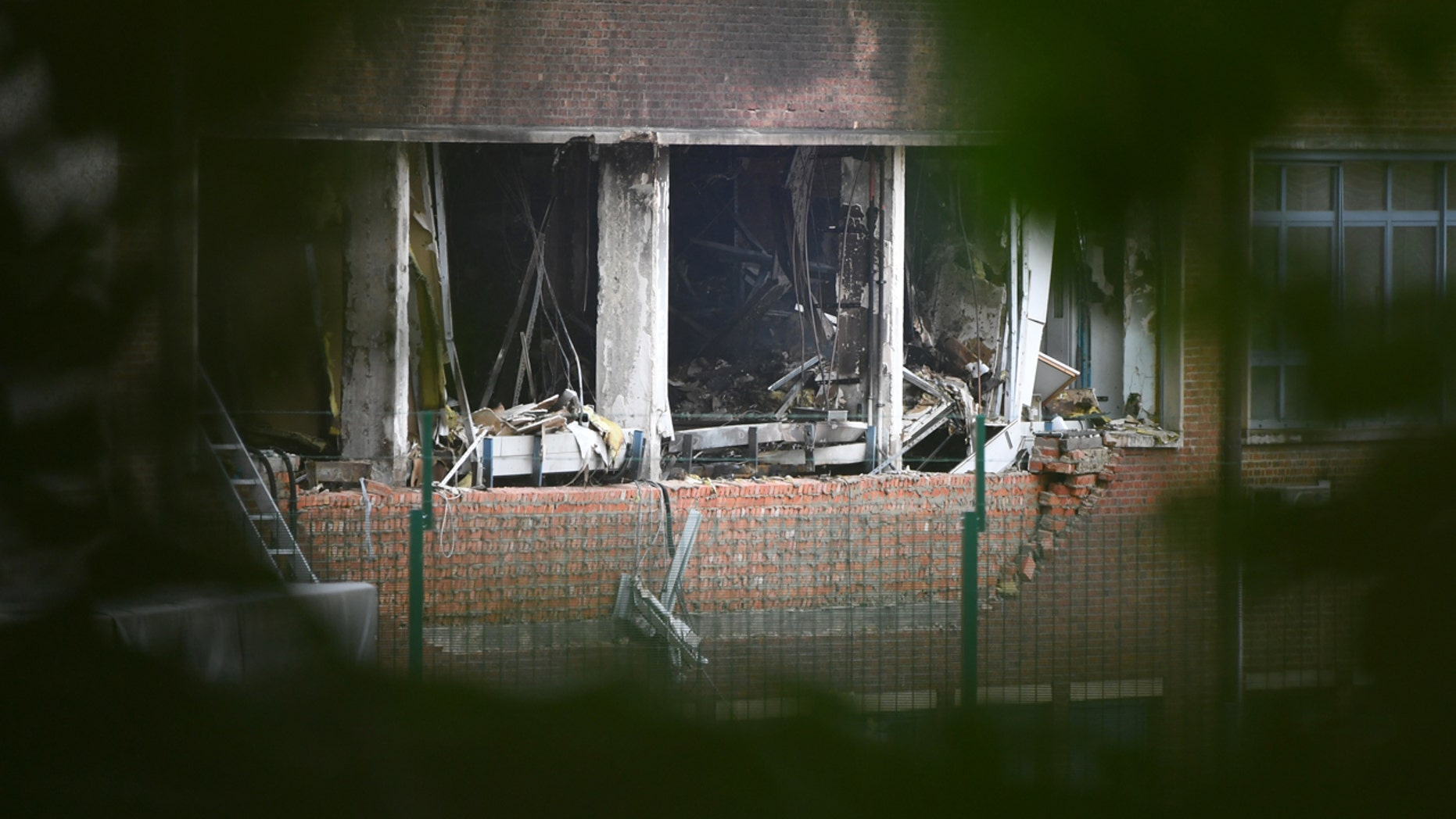Aug. 29, 2016: Damage can be seen at Belgium's National Criminology Lab in Brussels