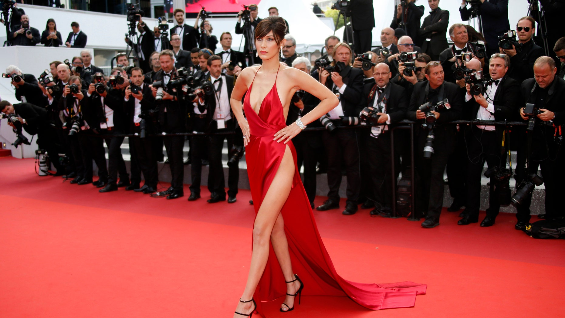 Bella Hadid, pictured here in May 2016, seemingly responded to body shamers on Instagram on Monday.