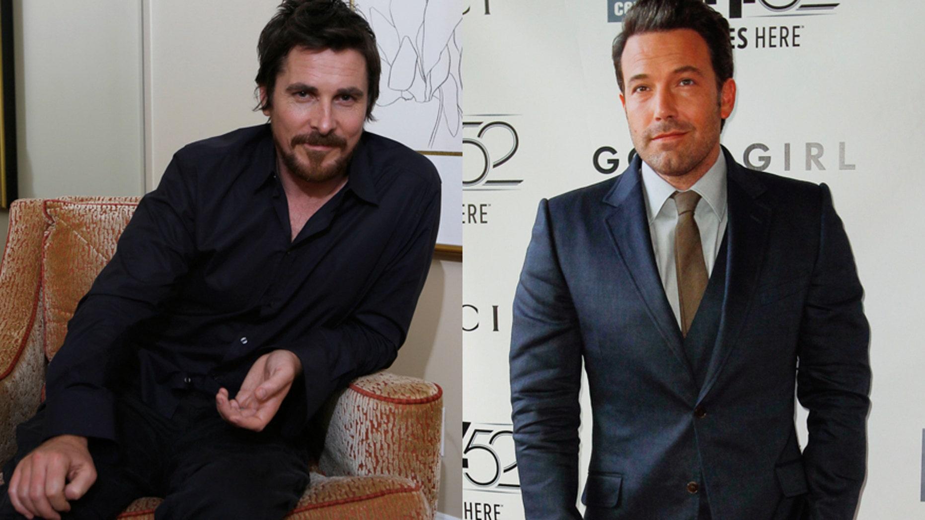 Actors Christian Bale (L) and Ben Affleck.