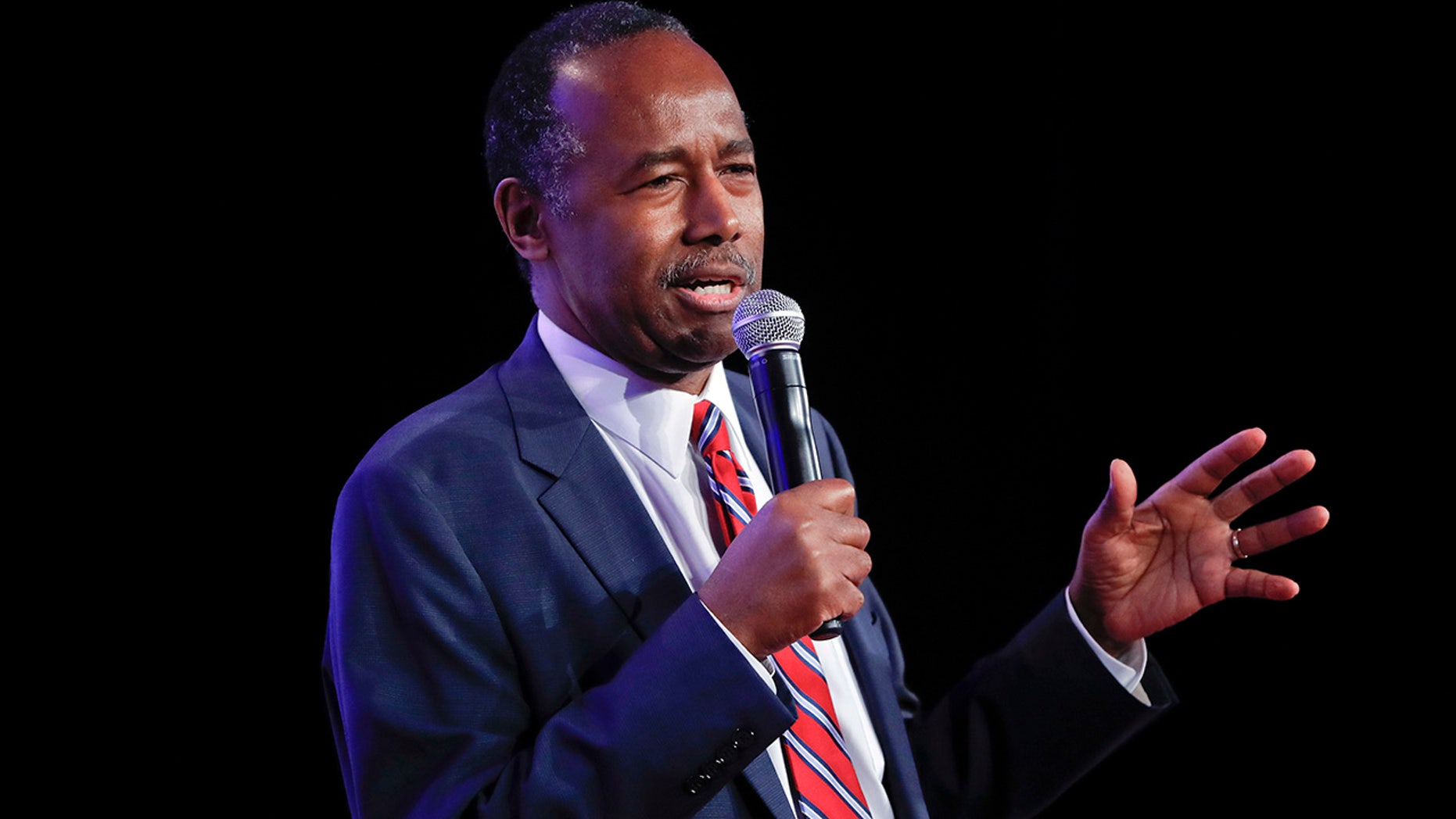 Housing and Urban Development Secretary Ben Carson speaks to the 2018 Values Voter Summit in Washington, Sept. 21, 2018.