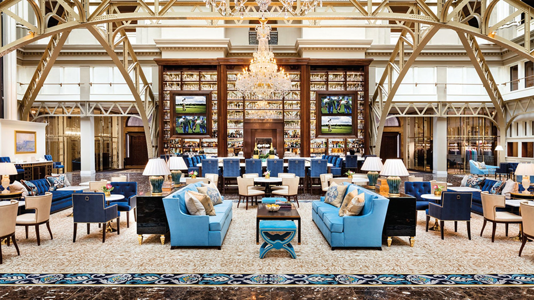 Safe space: Part of the problem is there aren't as many Trump-friendly bars in D.C. compared to past administrations; the Benjamin Bar & Lounge (pictured) is an option but generally expensive