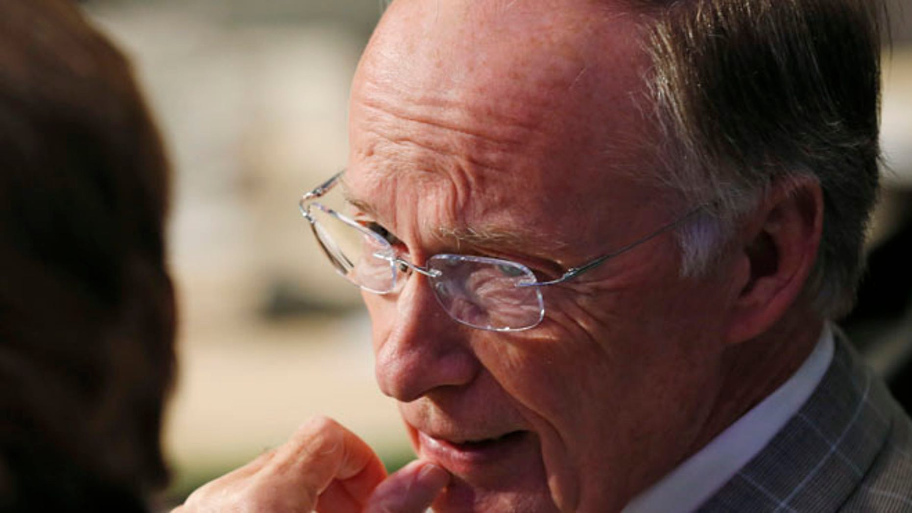 July 25, 2015: Alabama Gov. Robert Bentley, right, talks with  Tennessee Gov. Bill Haslam, prior to the closing session at the National Governors Association Summer meeting at the Greenbrier in White Sulphur Springs, W. Va. (AP)