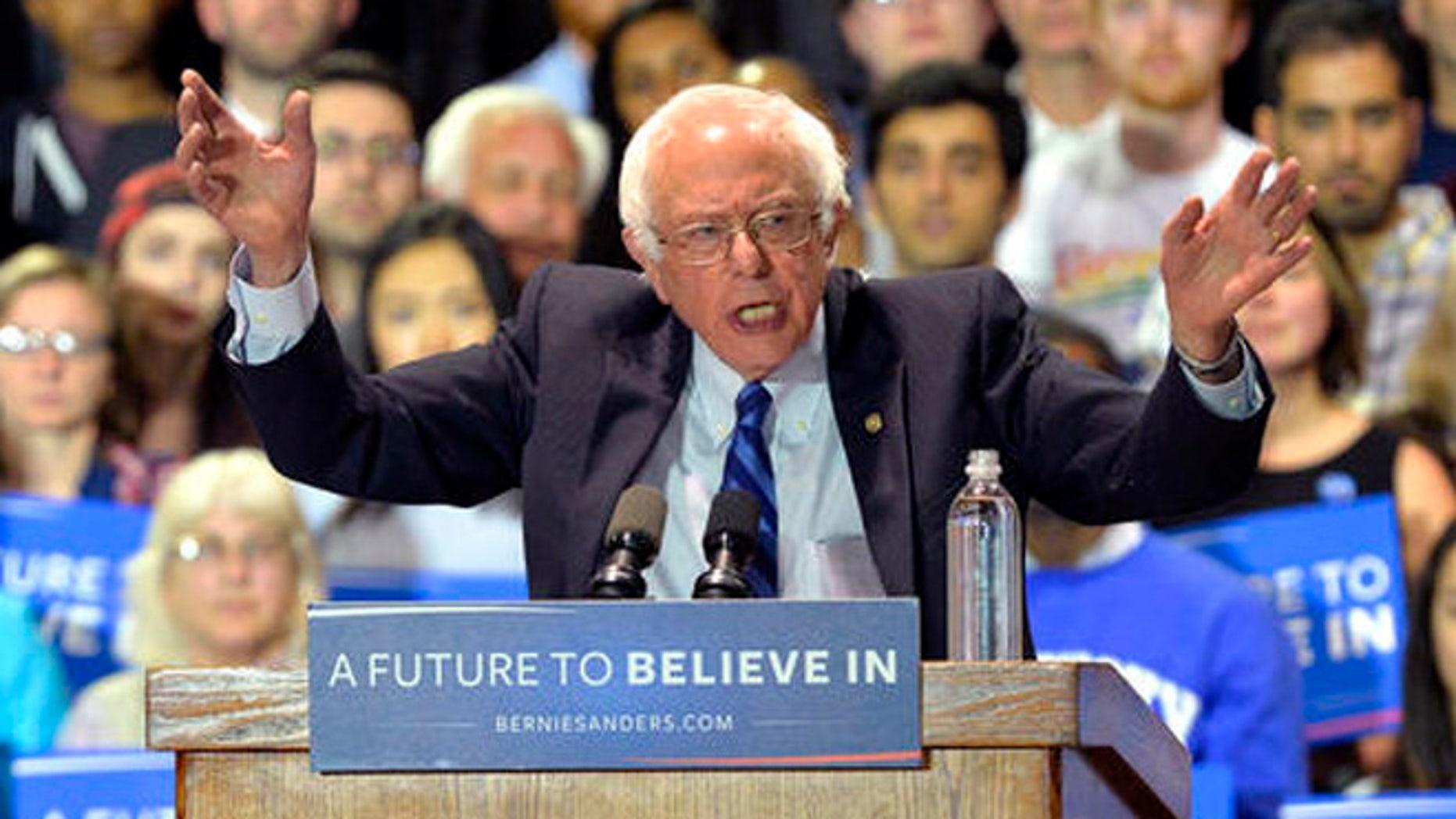 Sen. Bernie Sanders of Vermont, Democratic presidential candidate in 2016