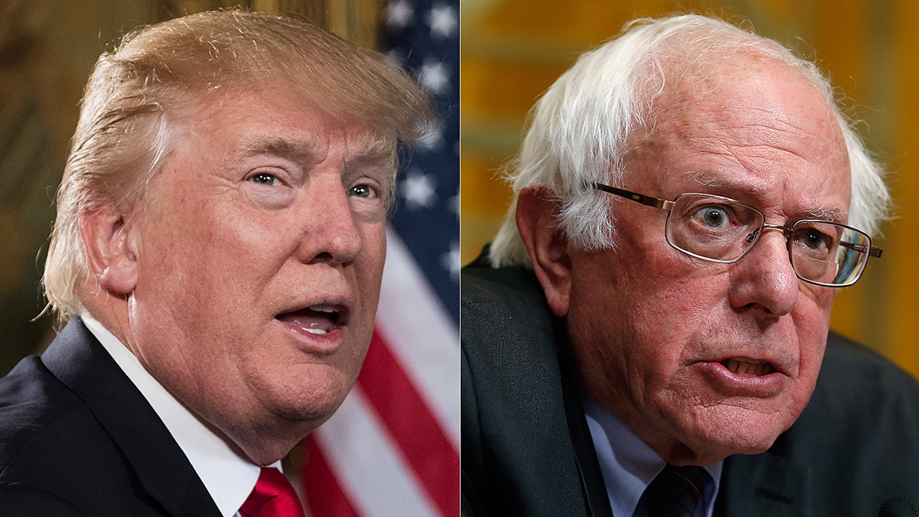 President Donald Trump and U.S. Sen. Bernie Sanders posted broadly differing views of the new U.S. tax law.