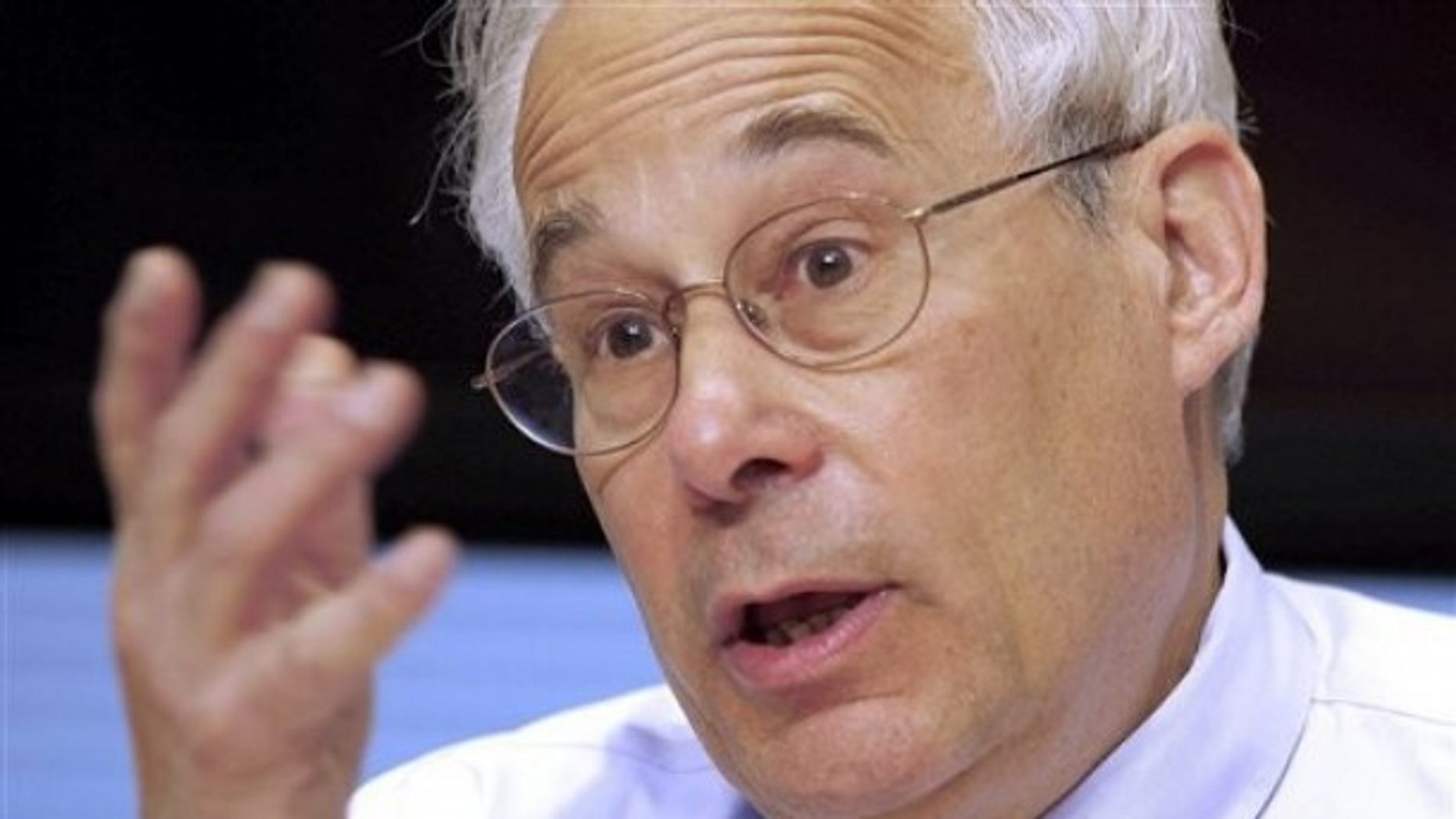 April 12, 2011: Medicare and Medicaid Administrator Donald Berwick gestures during an interview with The Associated Press in Washington.