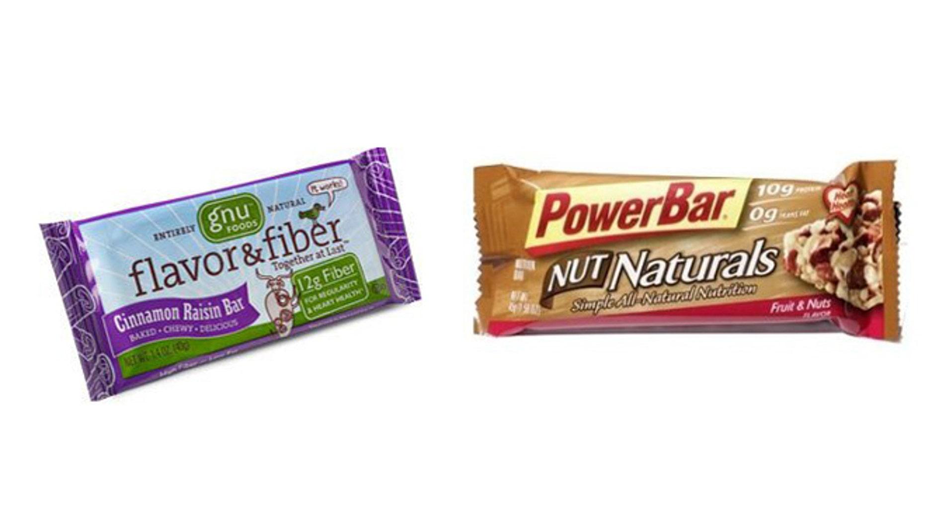 Gnu Foods Flavor & Fiber Cinnamon Raisin and Powerbar Nut Naturals Fruit & Nuts