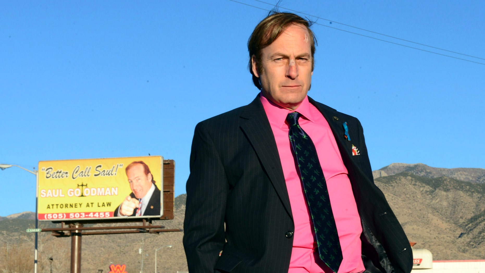 """FILE - This image released by AMC shows Bob Odenkirk in a scene from the final season of """"Breaking Bad."""" AMC confirmed that Odenkirk, who plays Saul Goodman, will star in a one-hour prequel tentatively titled """"Better Call Saul."""""""