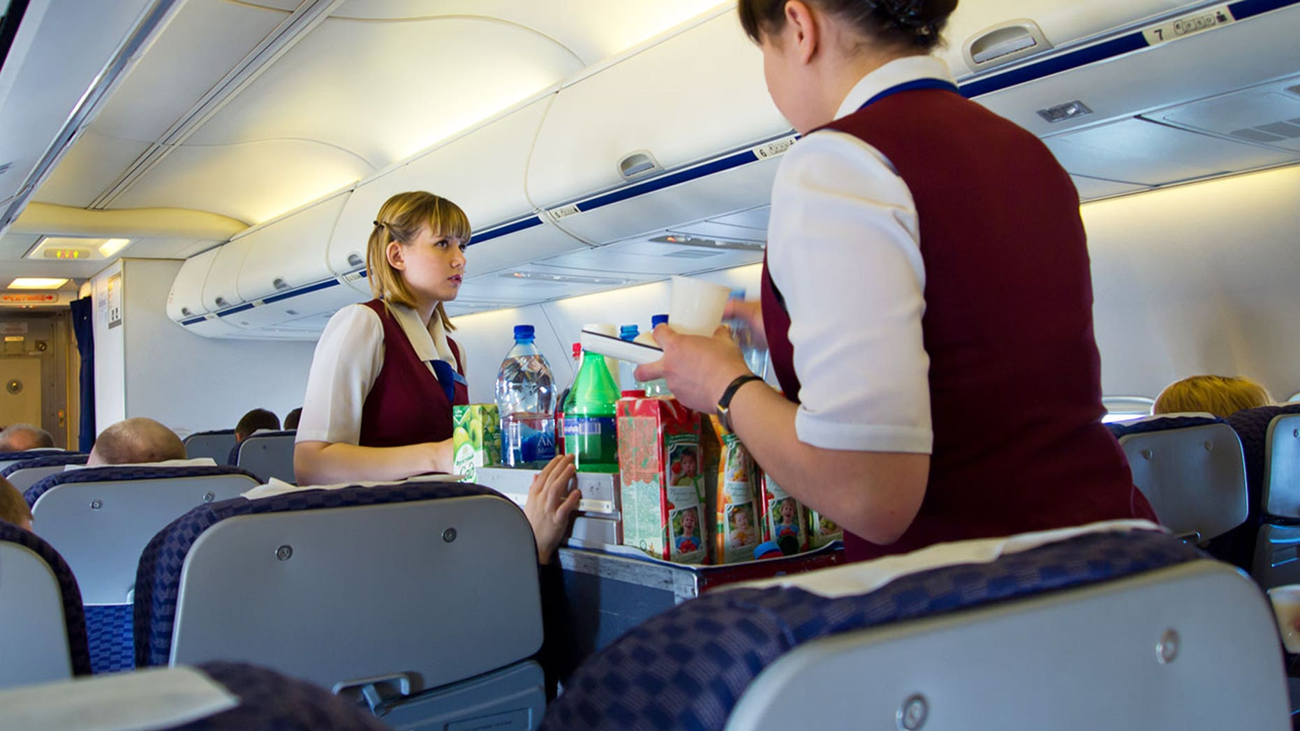 Maybe get a soda the next time your in-flight beverage cart comes around.