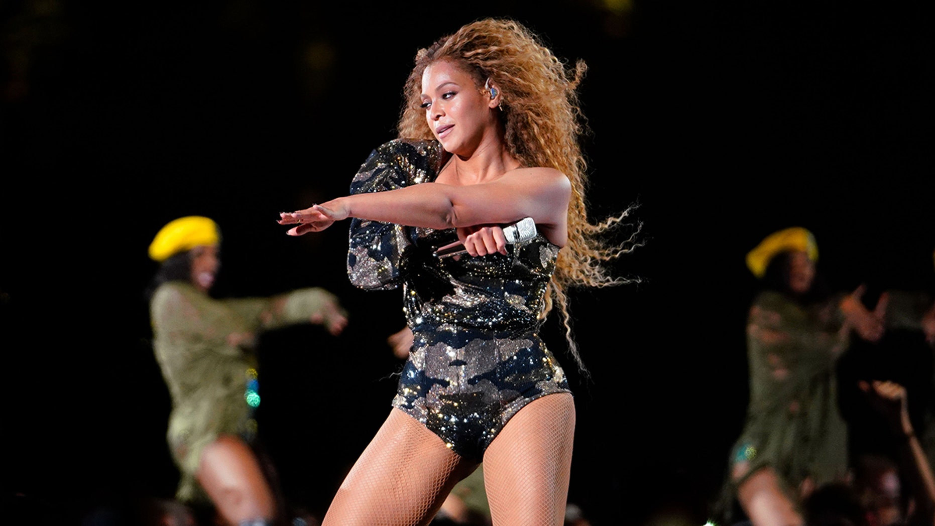 Beyonce, pictured here during her Coachella performance, recently had to endure a technical difficulty that left her stranded on stage during a concert with Jay-Z.
